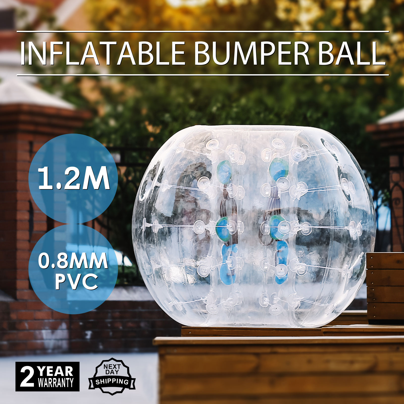 Kids And Adults Inflatable Body Zorb 1.2m/3.93ft Pvc Bumper Football Bubble