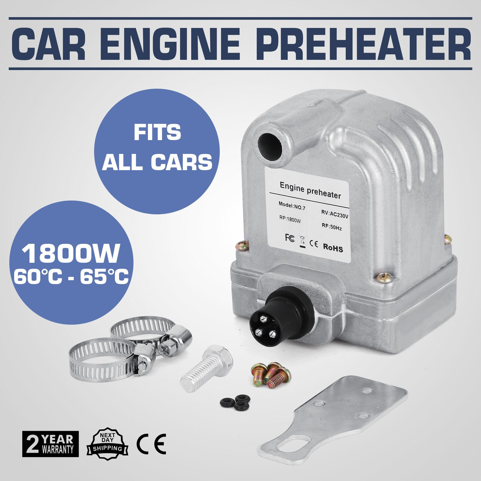 1 8kw engine coolant preheater 220v fits all cars 60 c 65 c get ebay. Black Bedroom Furniture Sets. Home Design Ideas