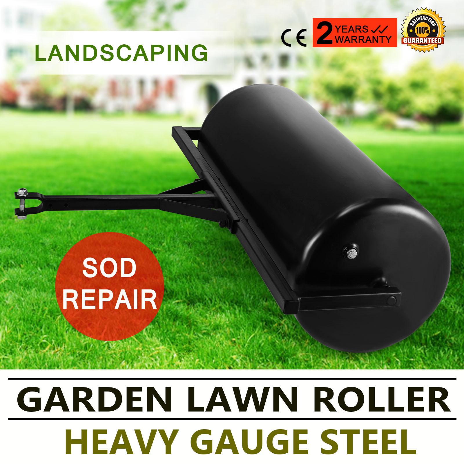 Versatile Garden Push Tow Lawn Roller Rust Resistant