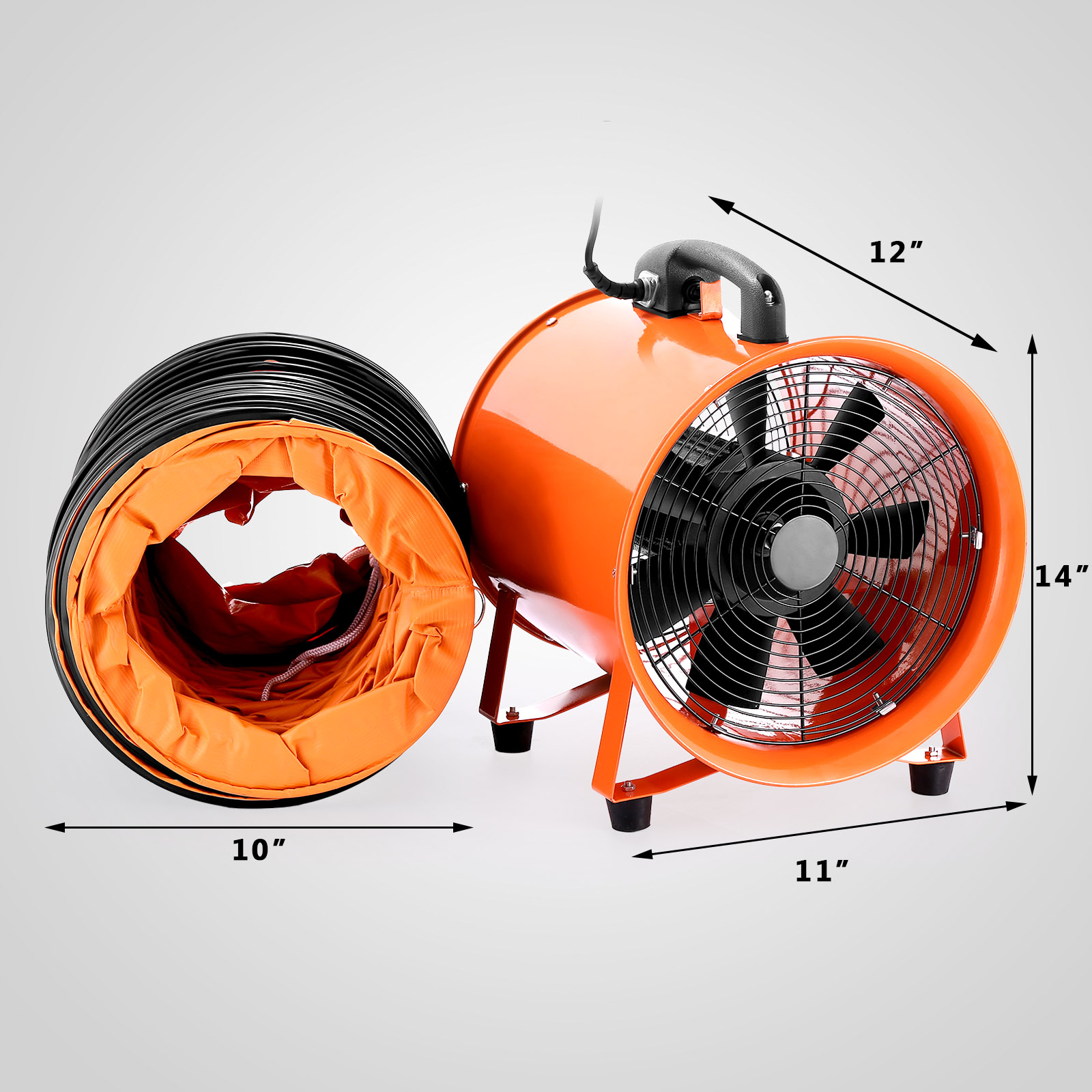 10 Quot Industrial Extractor Fan Blower W Duct Hose Rubber