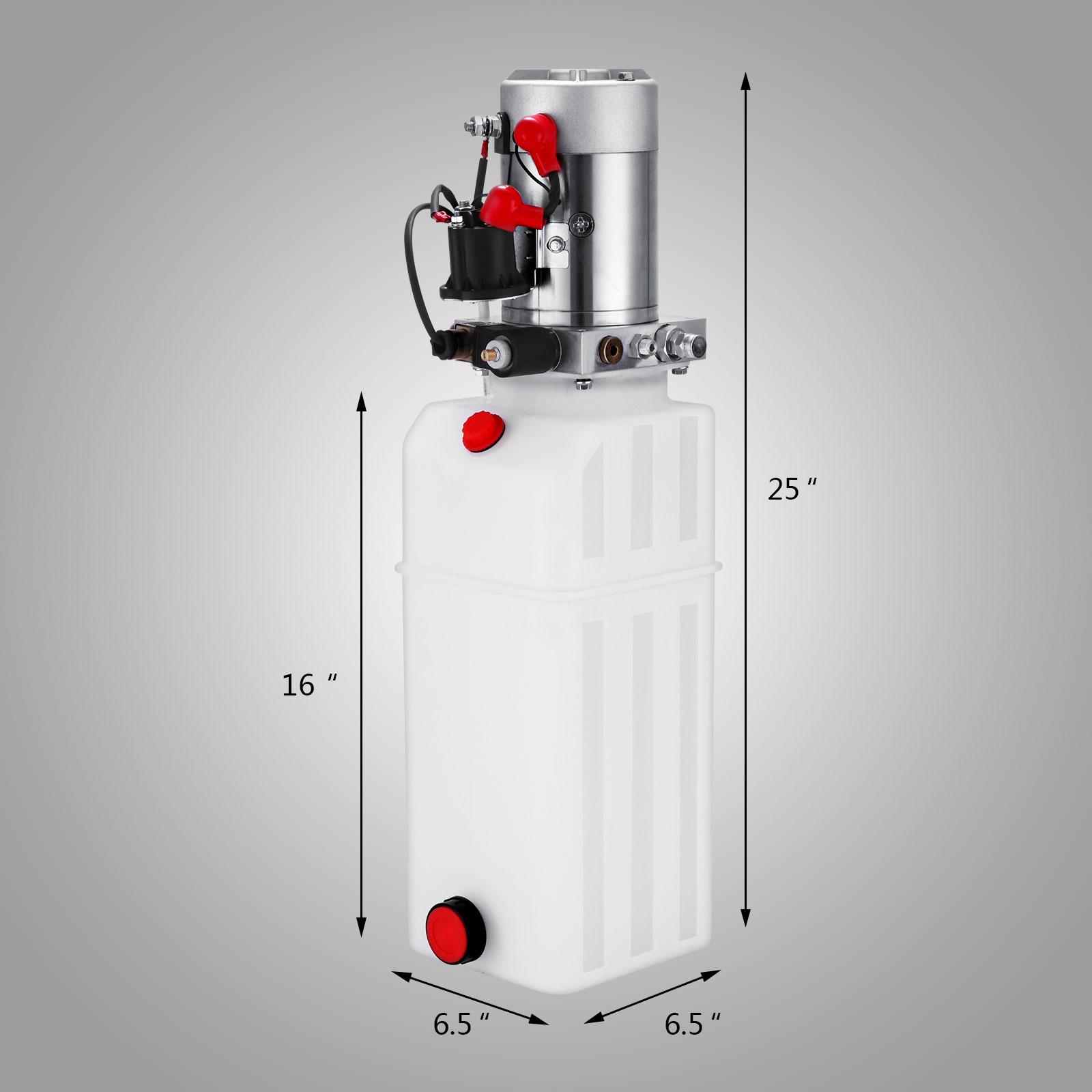 Dc12v Volt 10 Quart Single Acting Hydraulic Pump Power Supply Unit Pack Lift New 10l For Sale