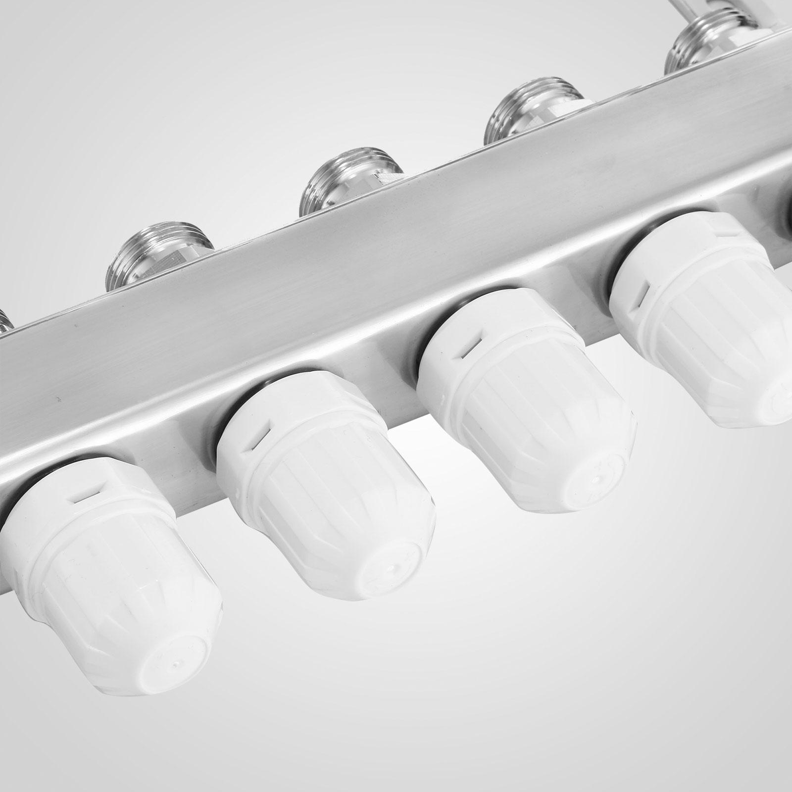 3-10 branch PEX Radiant Floor Heating Stainless Steel Manifold 1//2 Leak-proof