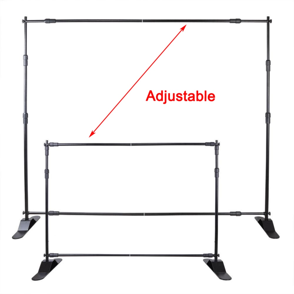 10*Heavy-Duty Step and Repeat Backdrop Telescopic Banner 10' Stand Adjustable US