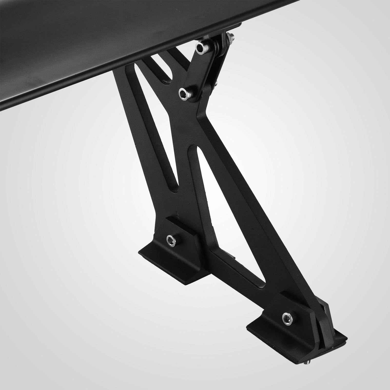 universal hatch adjustable aluminum gt rear trunk wing racing spoiler vevor ebay. Black Bedroom Furniture Sets. Home Design Ideas