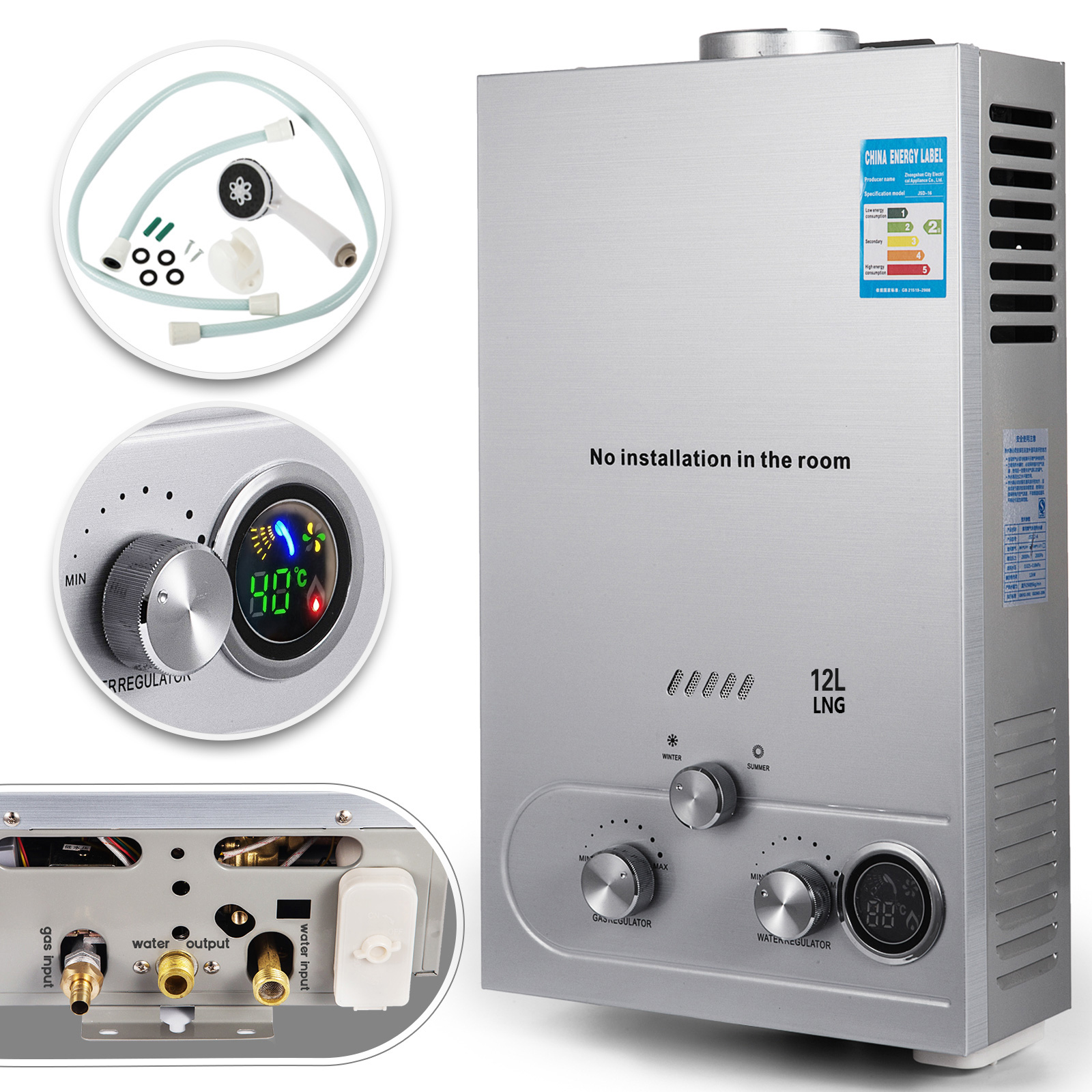 12l Natural Gas Hot Water Heater Tankless Instant Boiler