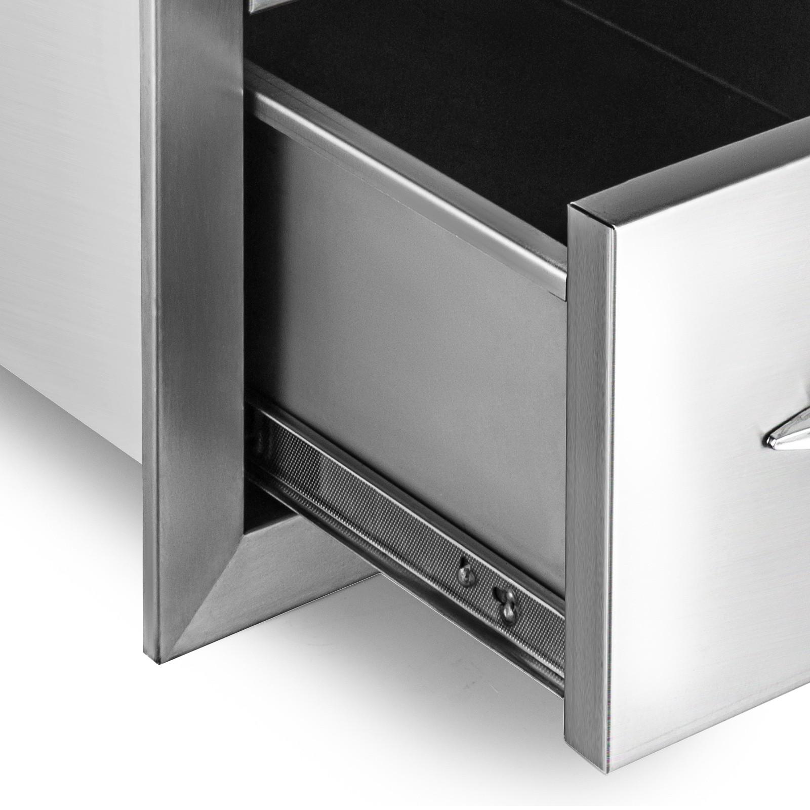 BBQ Schubladen Aussenküche Aufbewahrungsbox BBQ Island Schubfach BBQ Tür
