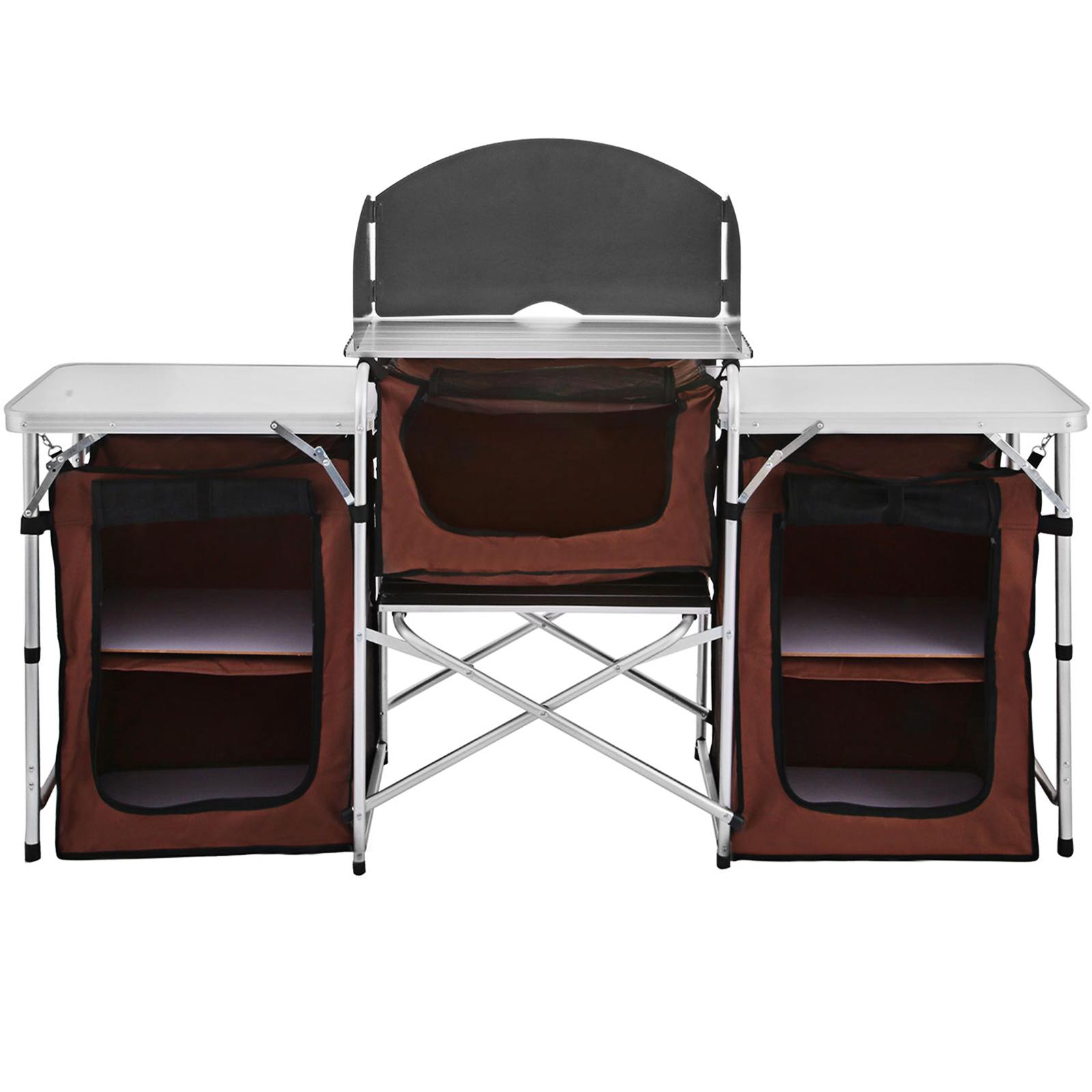 Pliable-Cuisine-de-Camping-Meuble-de-Rangement-Portable-Exterieur-Cuisine
