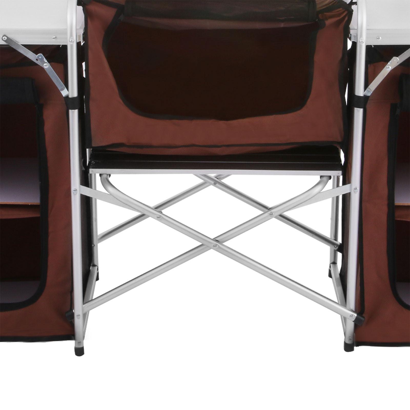 Pliable-Cuisine-de-Camping-Meuble-de-Rangement-Portable-Exterieur-Cuisine miniature 12