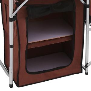 Pliable-Cuisine-de-Camping-Meuble-de-Rangement-Portable-Exterieur-Cuisine miniature 2