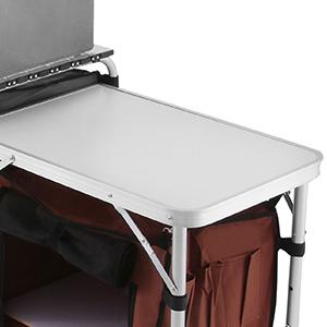 Pliable-Cuisine-de-Camping-Meuble-de-Rangement-Portable-Exterieur-Cuisine miniature 3