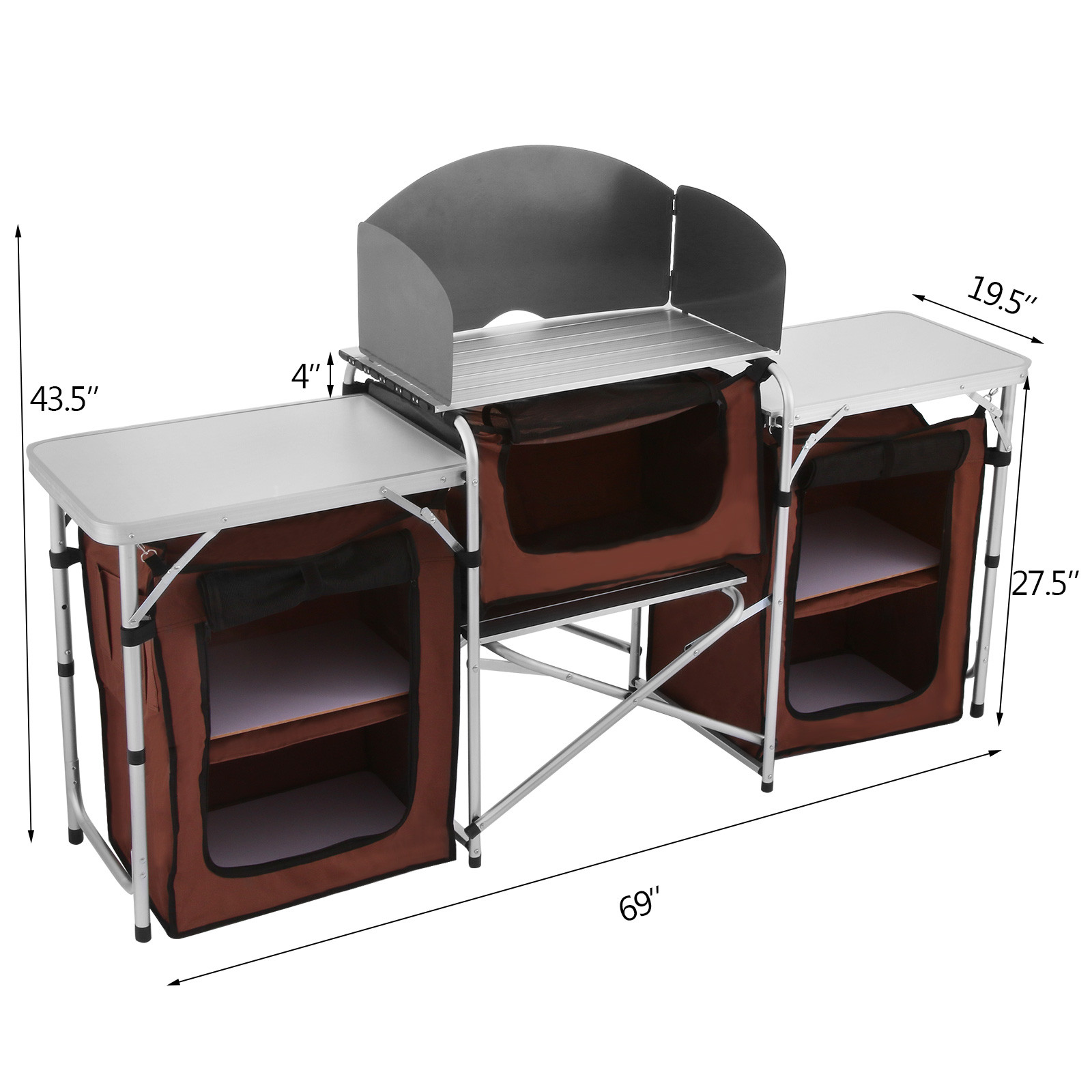Pliable-Cuisine-de-Camping-Meuble-de-Rangement-Portable-Exterieur-Cuisine miniature 8