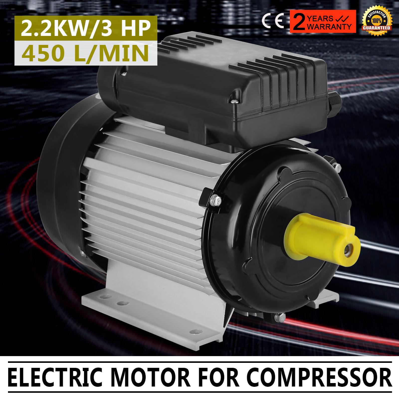 2 2kw 3hp 2900pm Shaft 24mm Air Compressor Motor Good