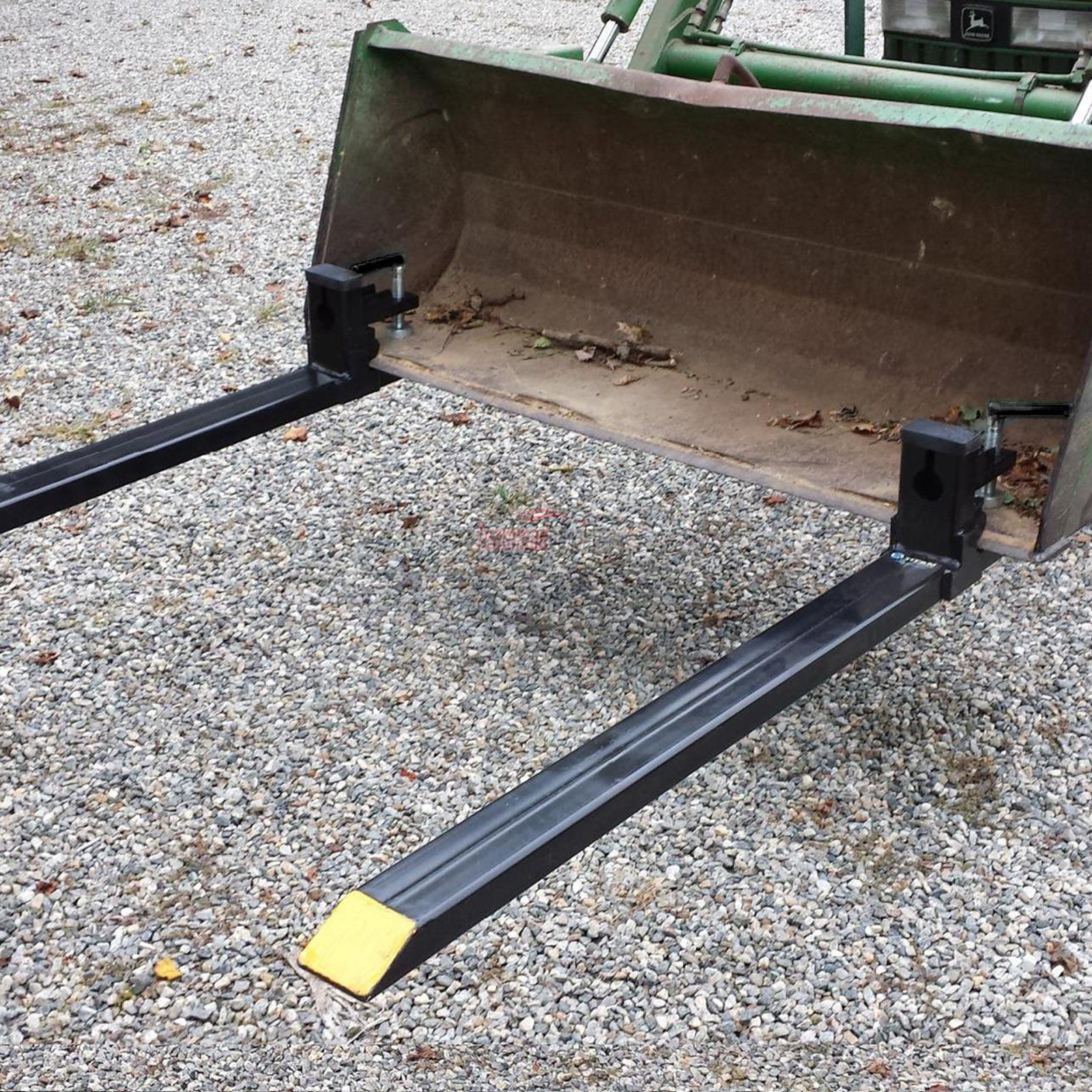 Tractor Bucket Forks : Quot lw clamp on pallet fork  lbs capacity