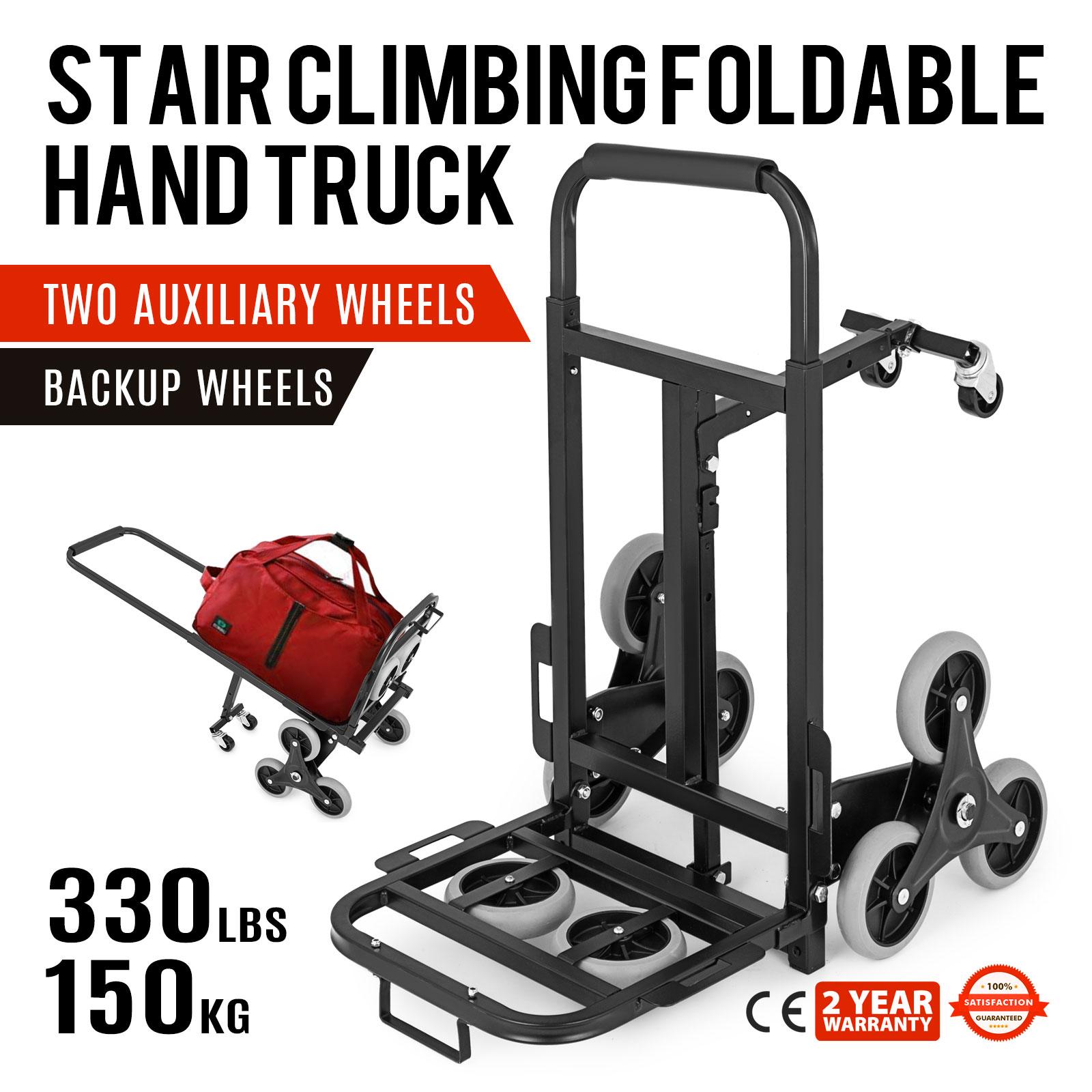 330lb Hd Folding Climbing Stair Cart Hand Truck Dolly