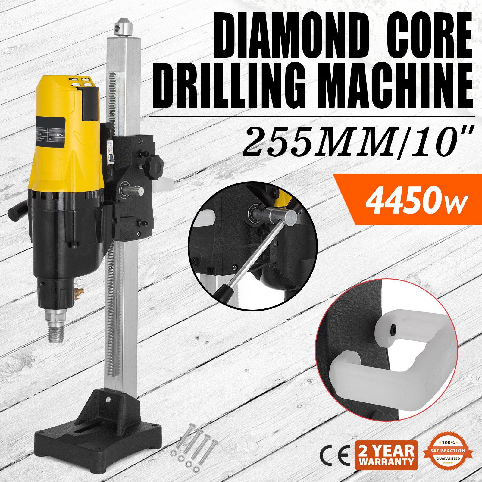 """8/"""" Diamond Core Drill Concrete Drill Handheld And Stand /& Drill Bits 3980W Vevor"""
