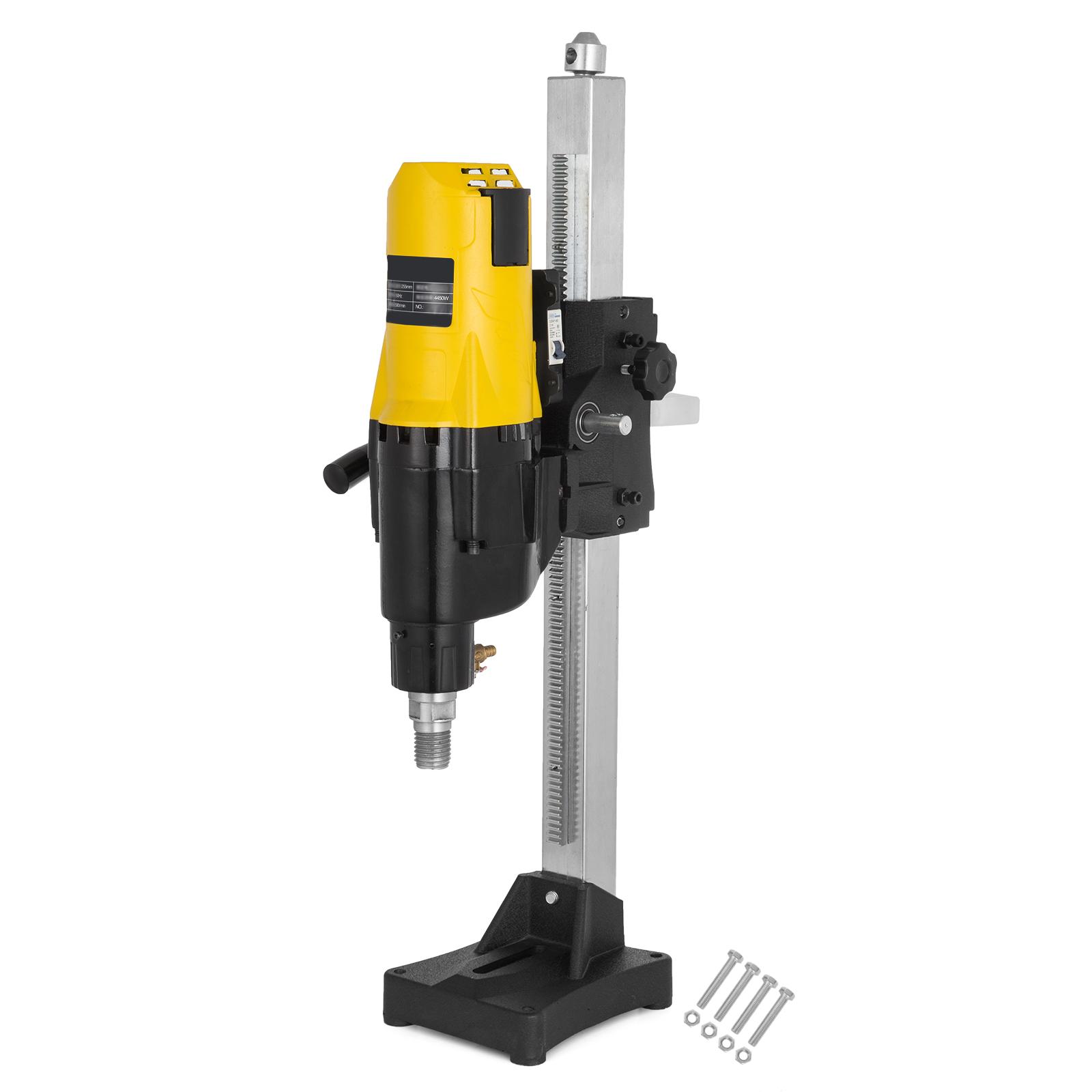 Vevor 255mm Diamond Concrete Core Drill Machine Vertical Stand Press Drilling