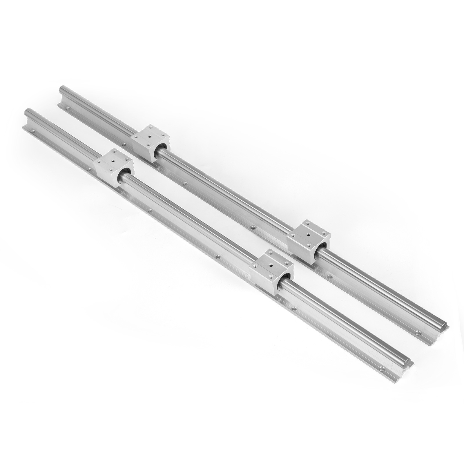 SBR16 300mm-1200mm CNC Linear Rail Shaft Slide Rod 4 SBR16UU Bearing Block