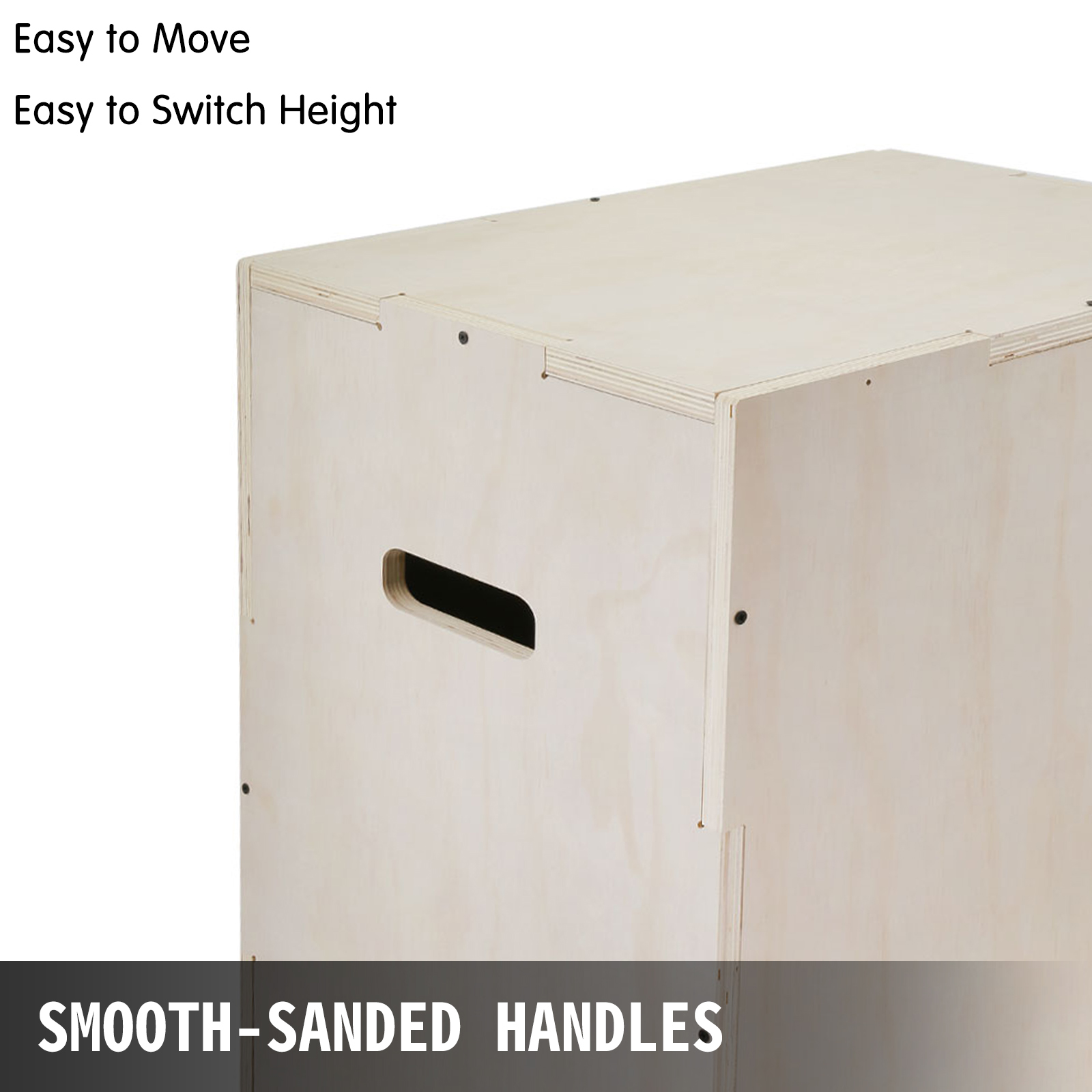 3in1 Wood Plyometric Box for Jump and Training Strength Plyo Exercise Fit Plyo