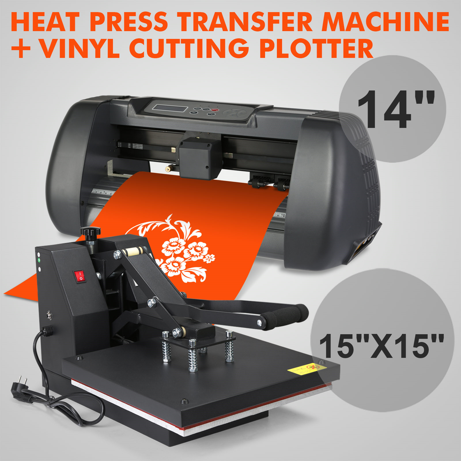 15 Quot X15 Quot Heat Press Transfer 14 Quot Vinyl Cutting Plotter Diy