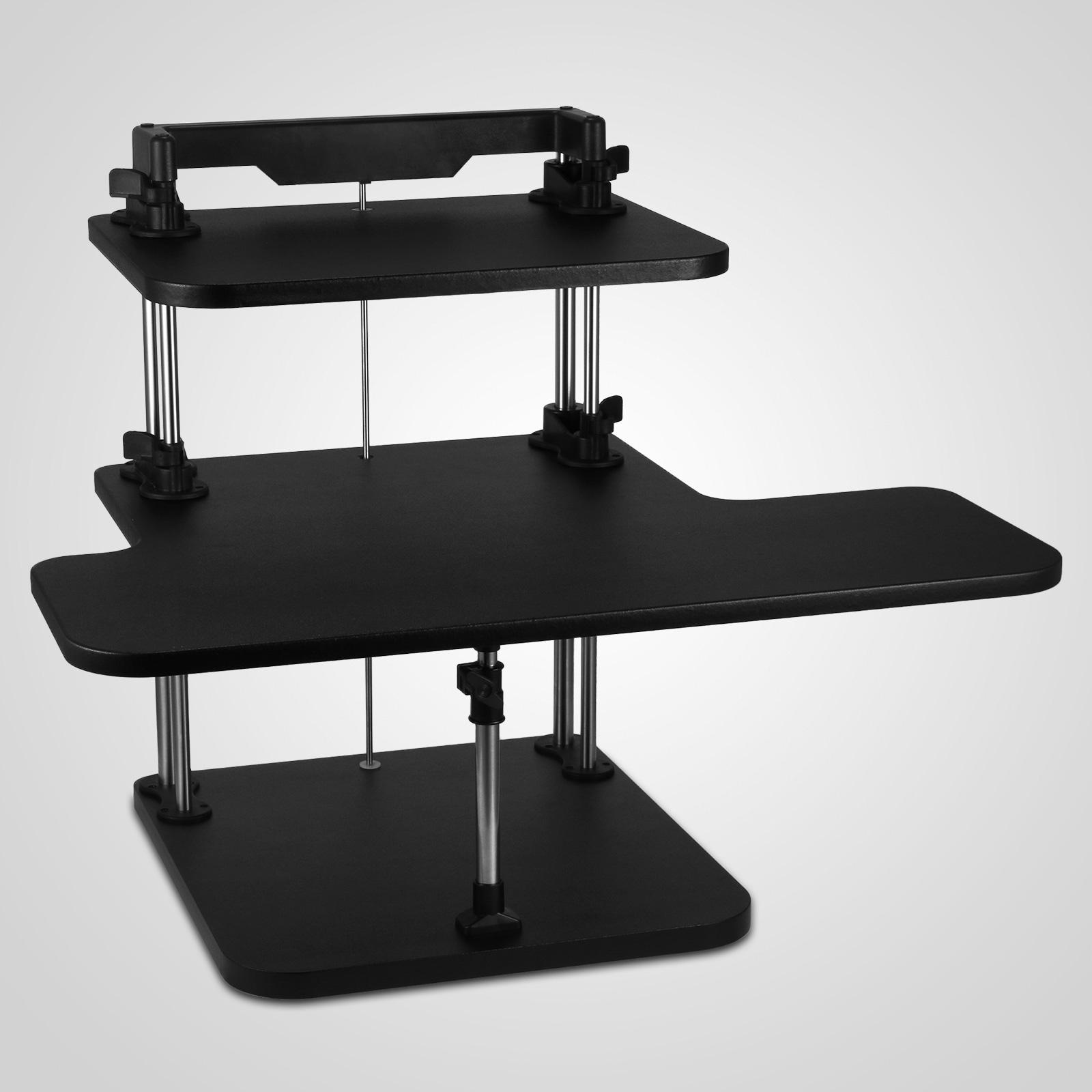 3 tier adjustable computer standing desk sit stand light weight home office ebay. Black Bedroom Furniture Sets. Home Design Ideas