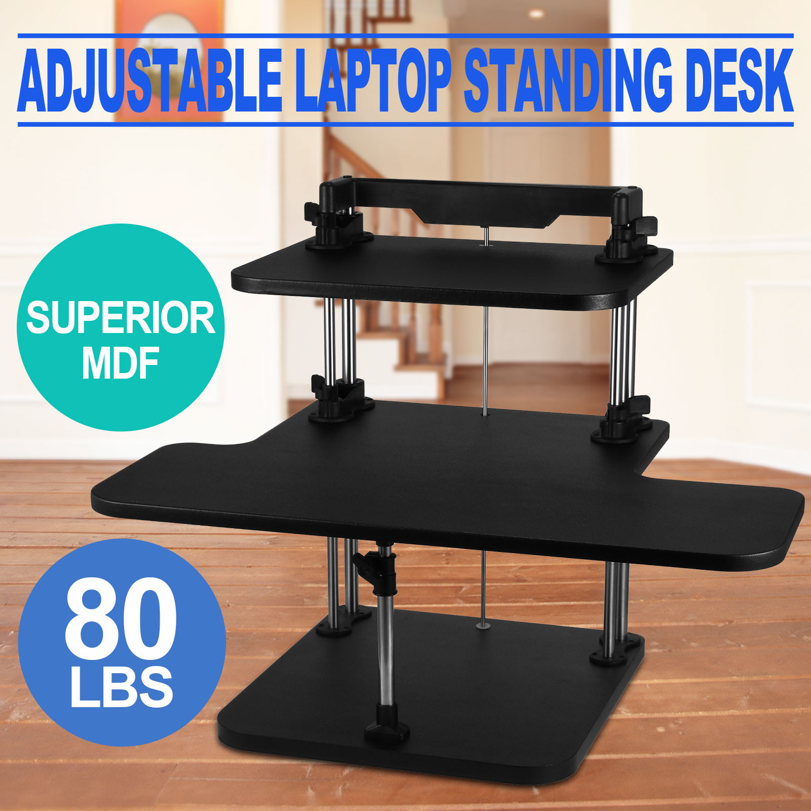 Image Is Loading 3 Tier Adjule Computer Standing Desk Laptop Stand
