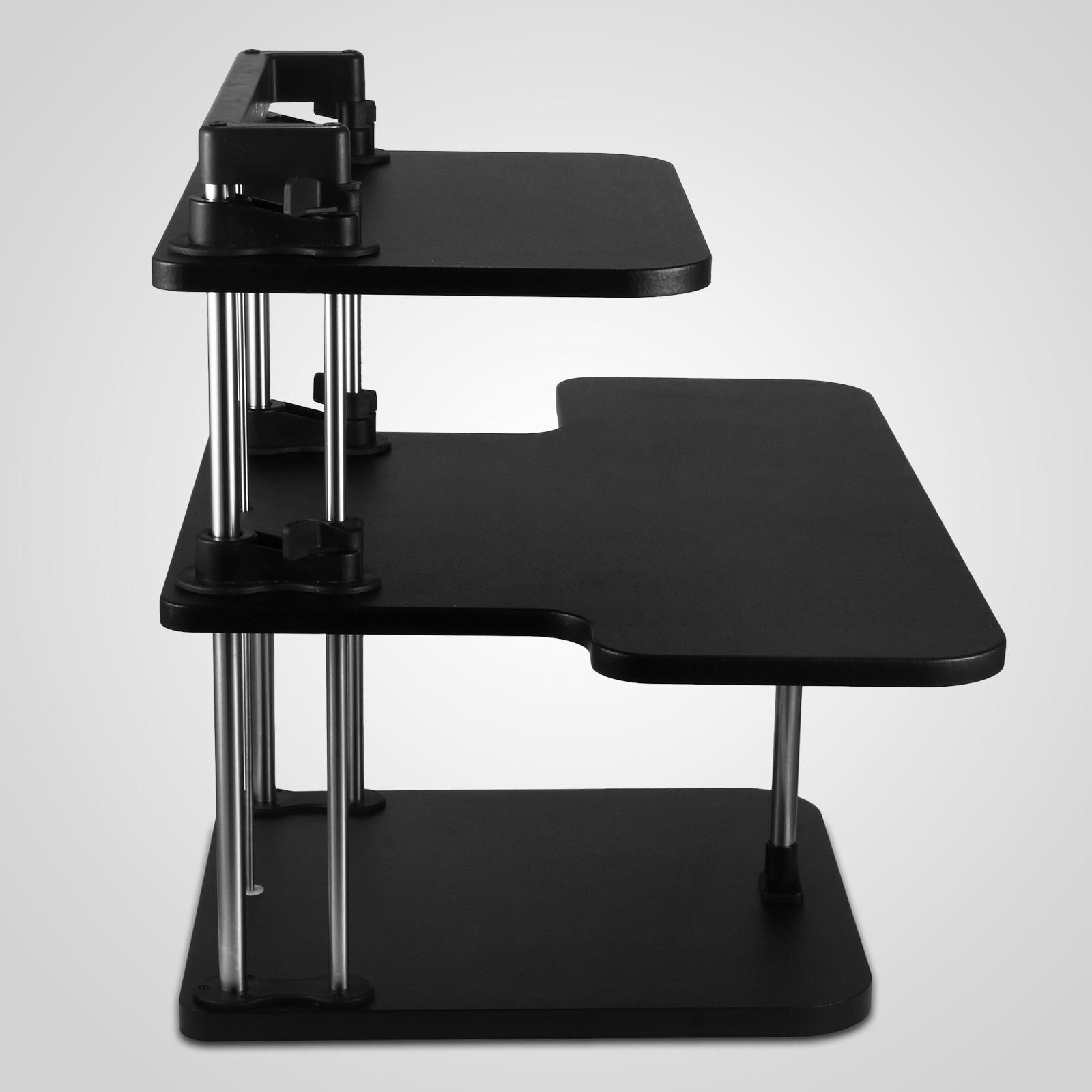 Ergonomic Height Adjustable Standing Desk Computer Sit Stand Up Desk 3 Layers