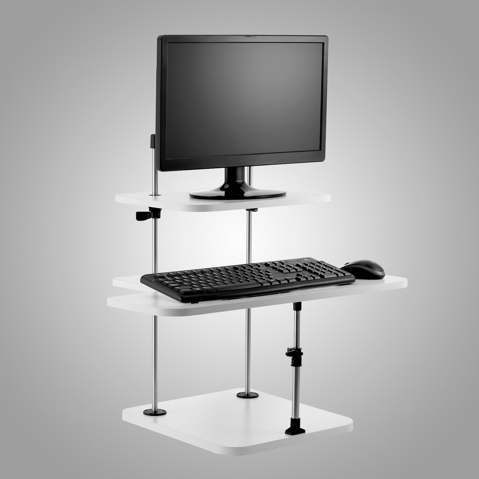 3 tier adjustable computer standing desk light weight home for Home office standing desk