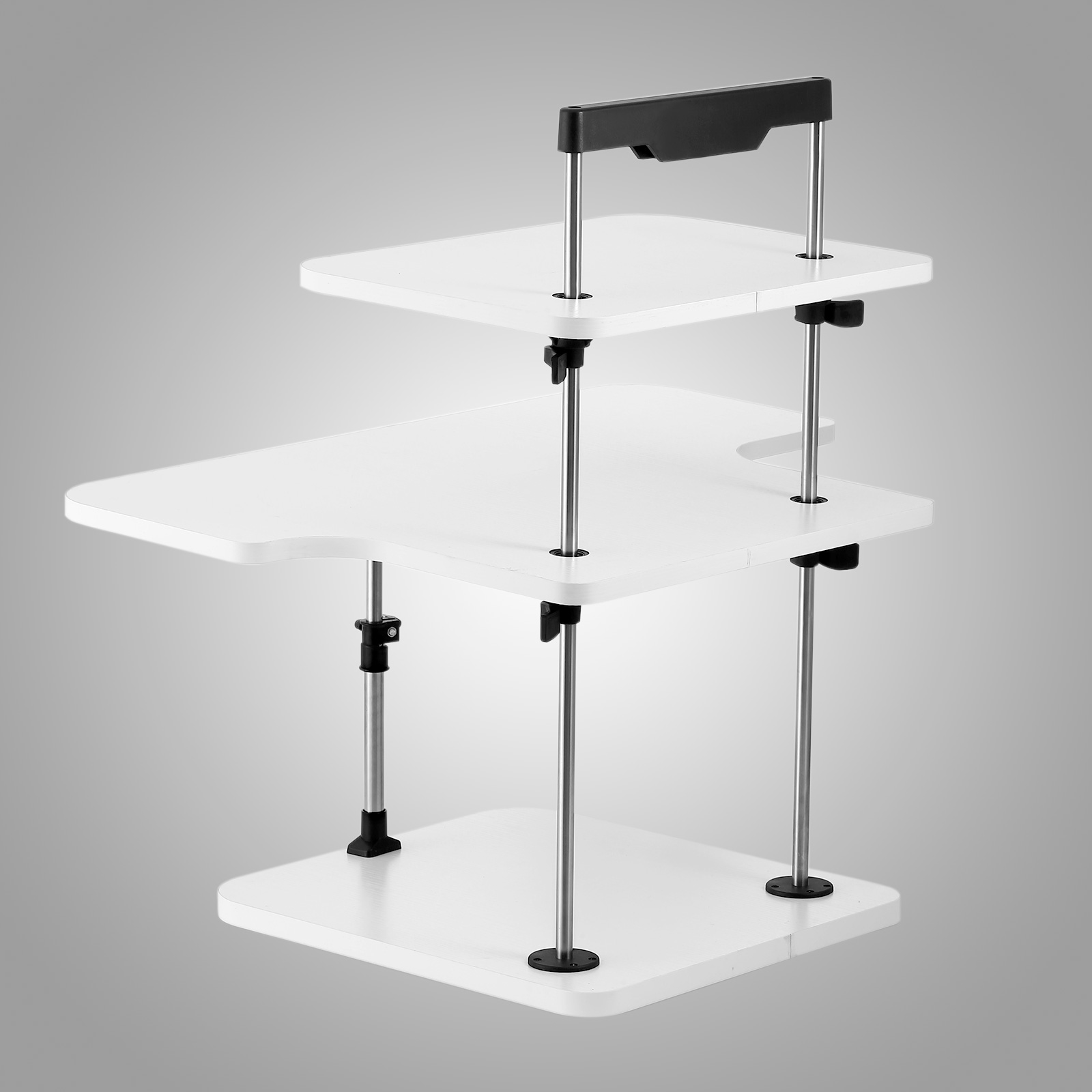 3 tier adjustable computer standing desk light weight home for Standing desk at home