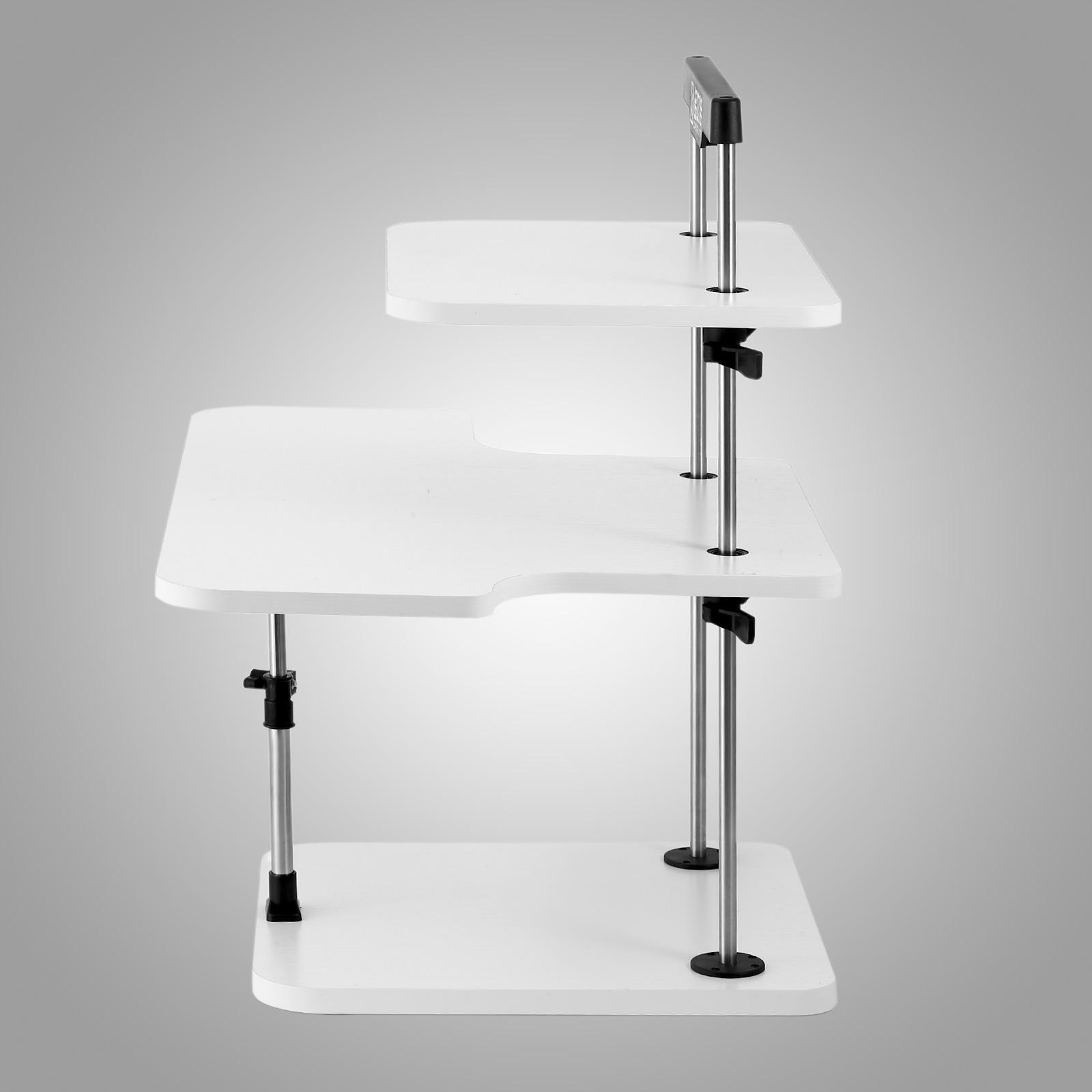 3 tier adjustable computer standing desk portable home