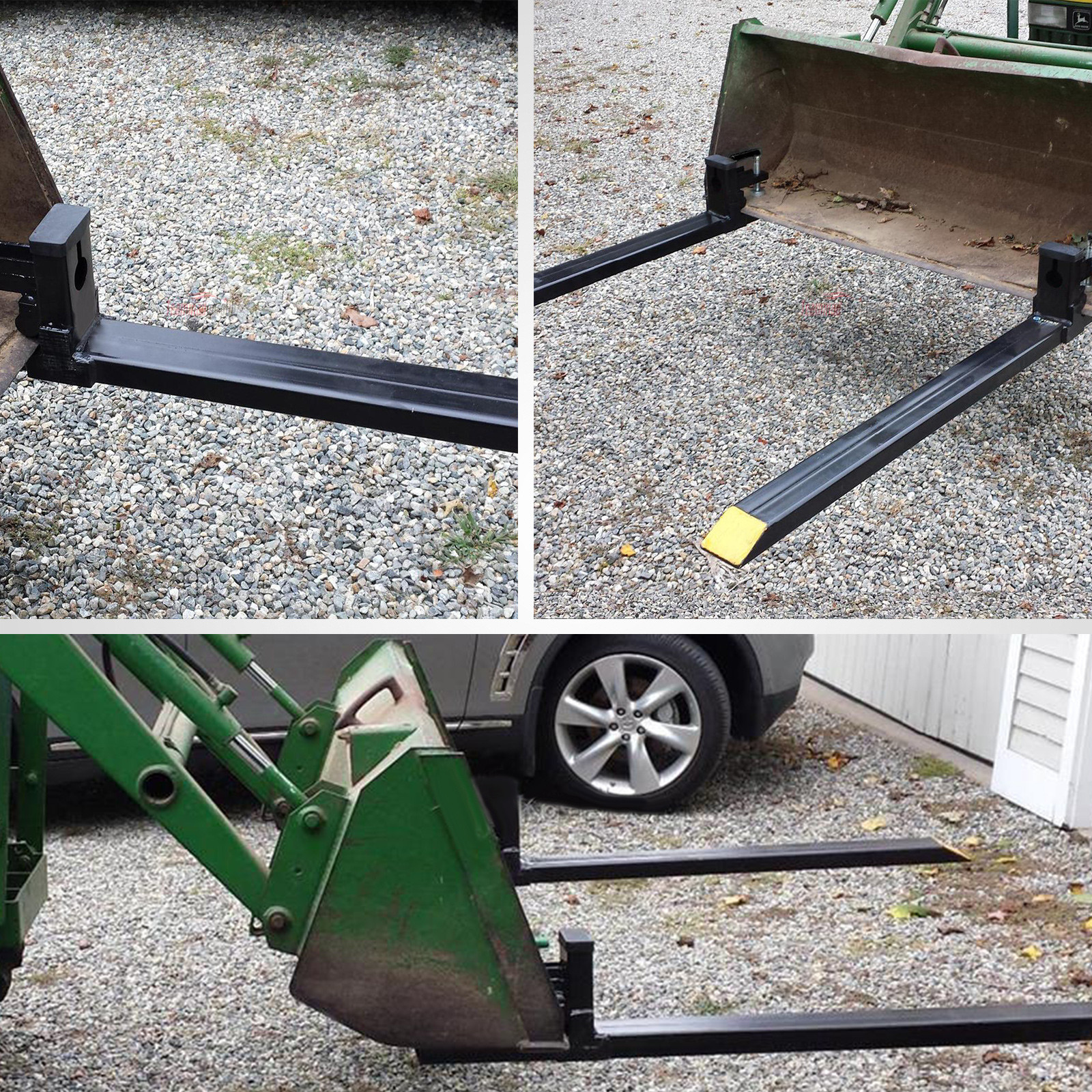 Tractor Bucket Fork Stabilizer Bar : Quot hd clamp on pallet forks lb capacity w