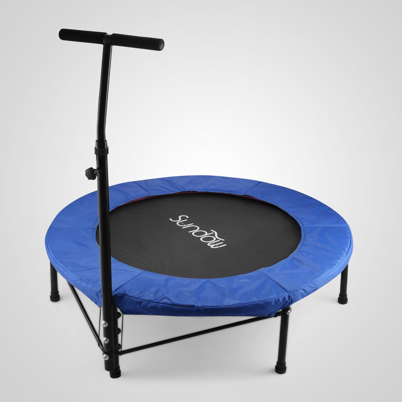 40 mini trampoline fitness jumper gym jump kids play with handle widely trusted ebay. Black Bedroom Furniture Sets. Home Design Ideas