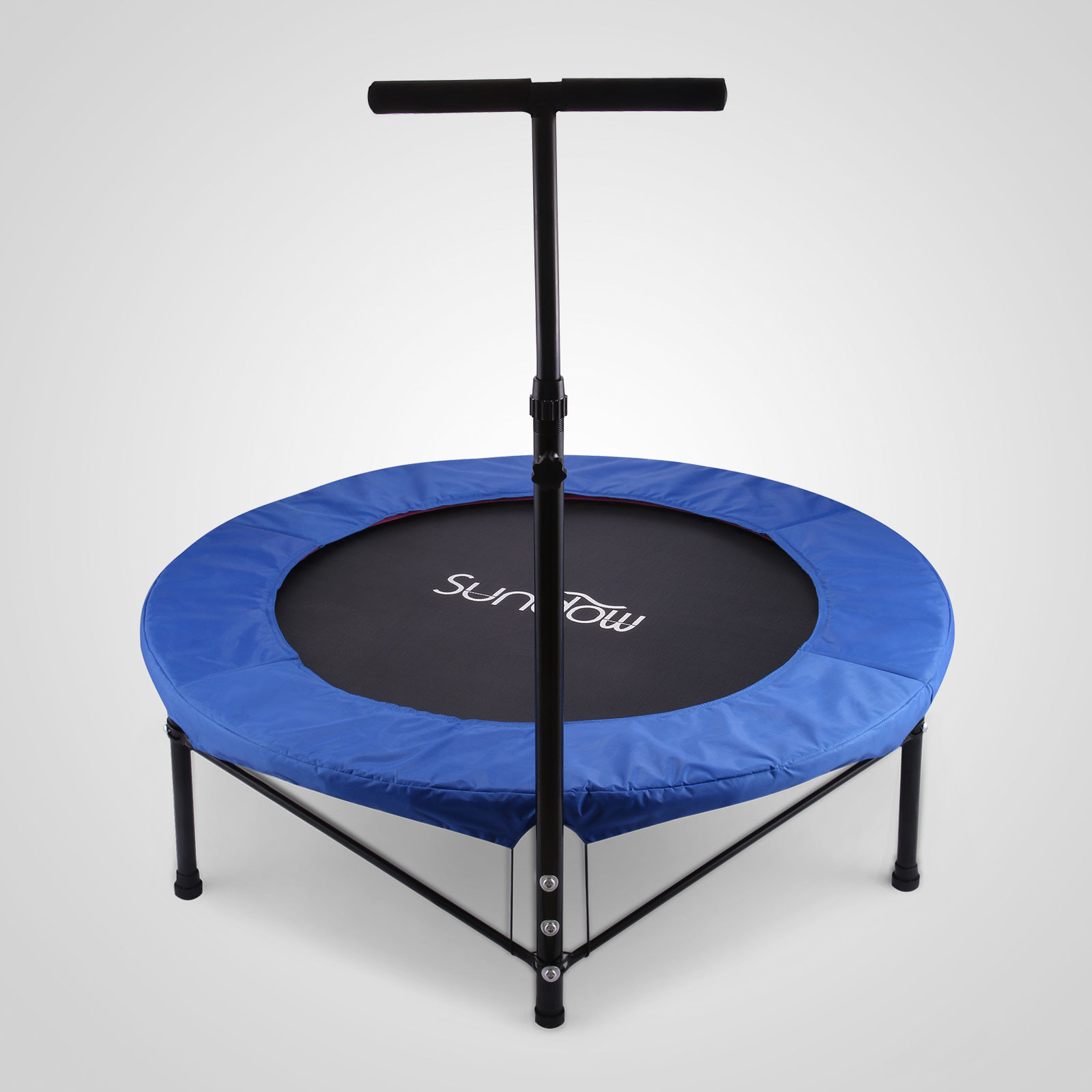 40 mini trampoline fitness jumper handle portable gym jump handle adjustable ebay. Black Bedroom Furniture Sets. Home Design Ideas