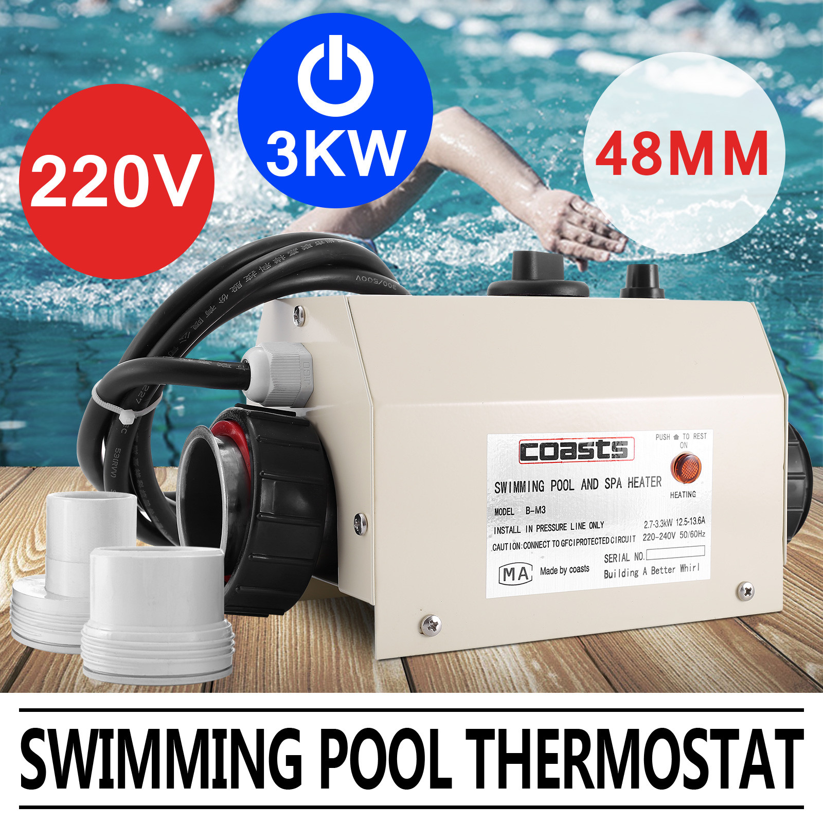 Thermostat Swimming Pool Heater Sauna Spa Thermostat