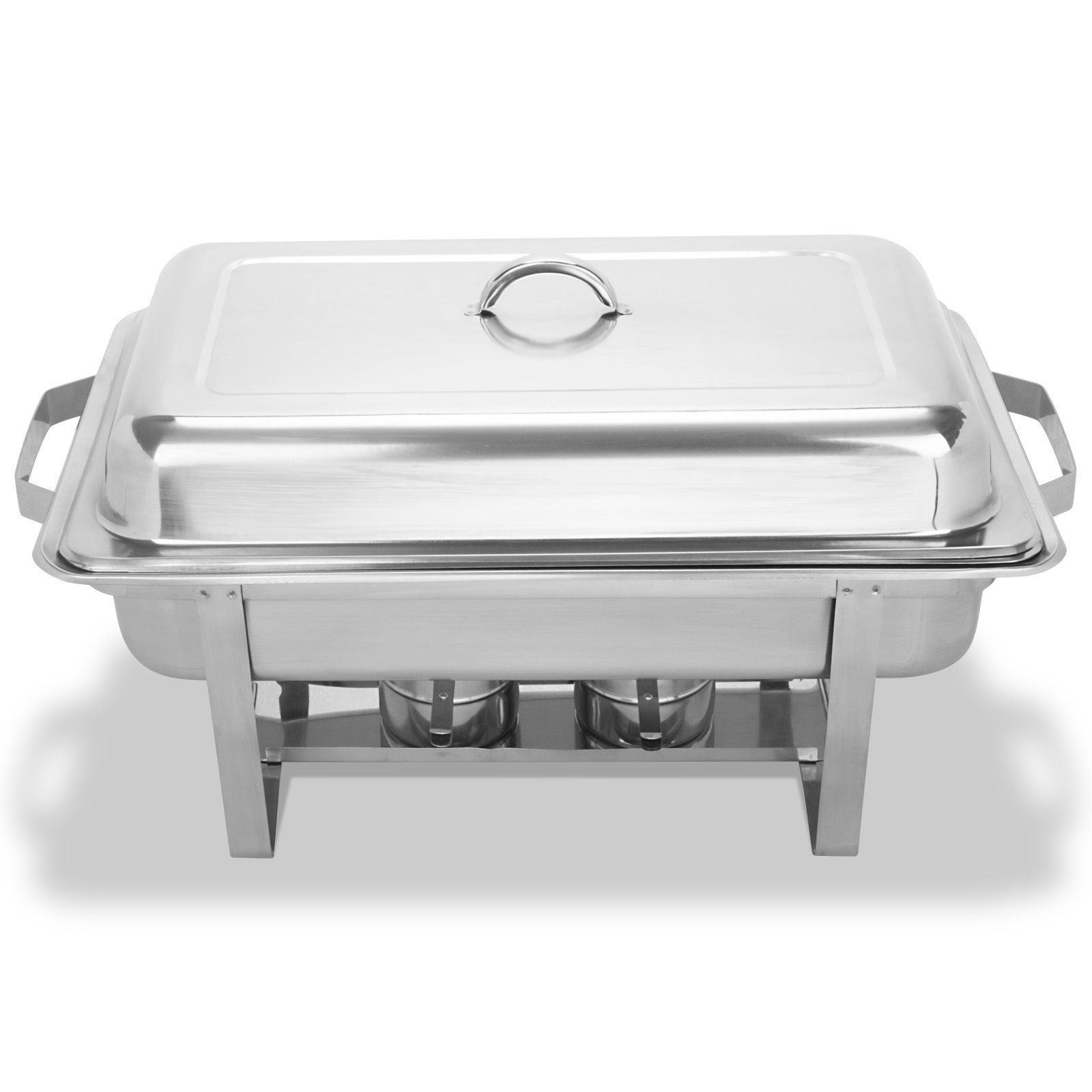 4 pack 9quart chafing dishes buffet catering stainless steel folding chafer tray ebay. Black Bedroom Furniture Sets. Home Design Ideas