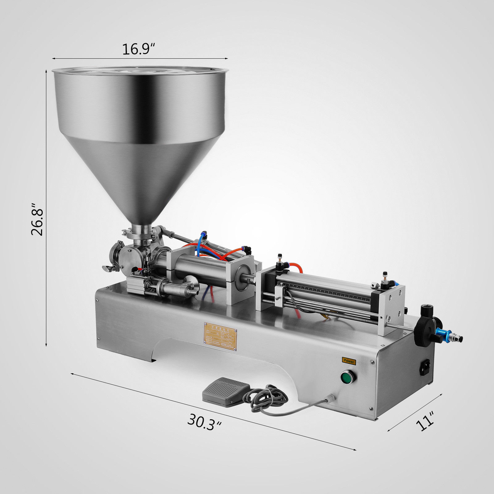 semi automatic paste filling machine
