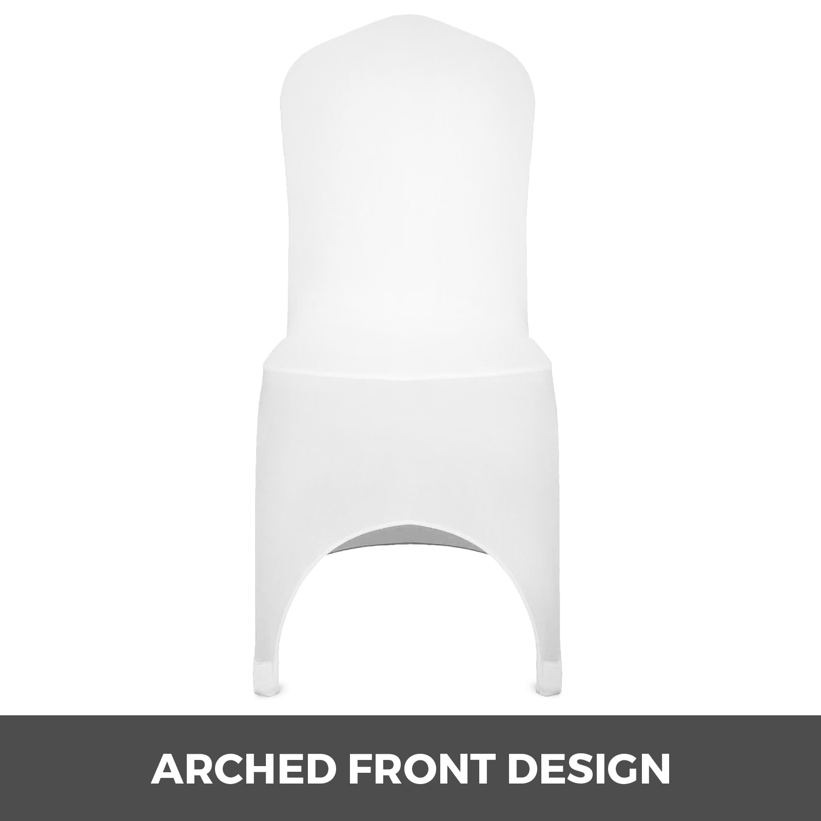 100//50 White//Black Cover Spandex Lycra Chair Cover Wedding Banquet Party Folding