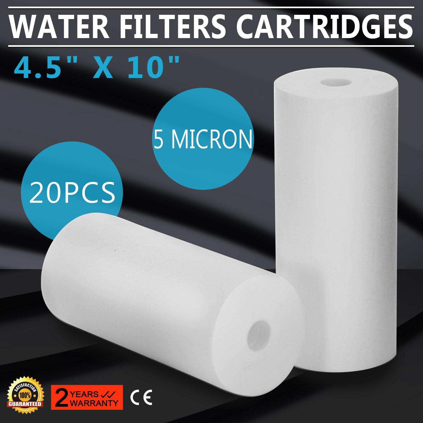 20Pcs-Cartouche-Filtrante-5-Micron-10-034-X-4-5-034-Contre-Sediments-Particules