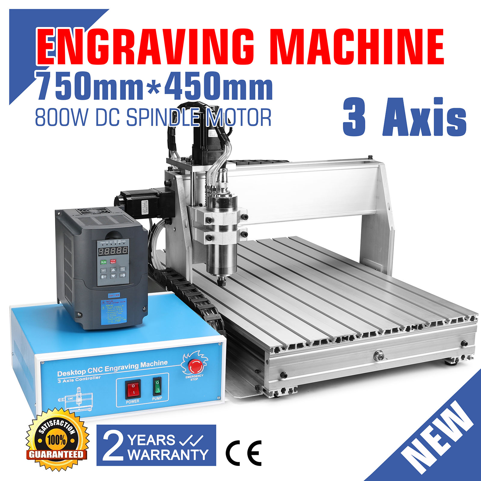 6040Z Engraver Engraving Machine CNC Router 3 Axis Drilling Frame US stock