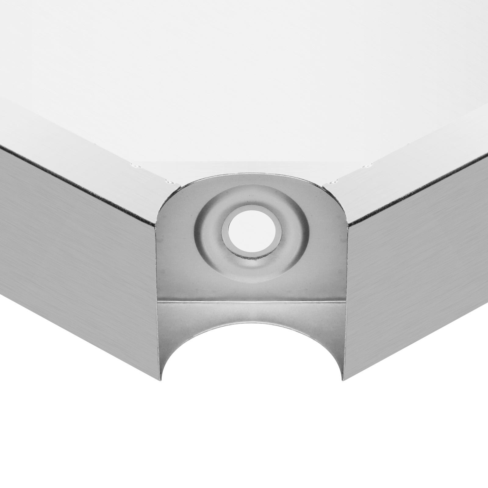 vevor edelstahl gastro tisch edelstahltisch arbeitstisch k chentisch ebay. Black Bedroom Furniture Sets. Home Design Ideas