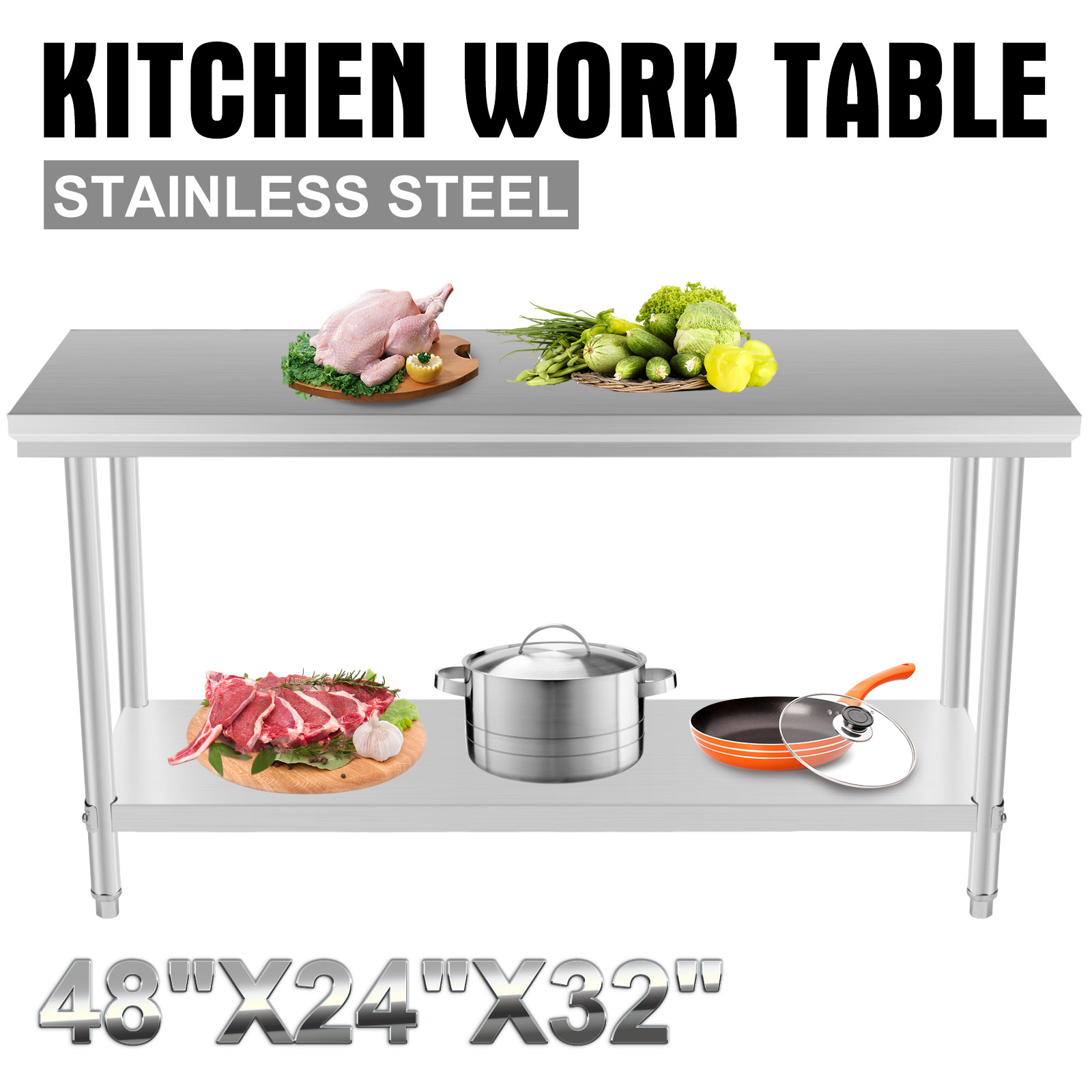 New Kitchen That Work New Stainless Steel Kitchen Restaurant Work Bench Food Prep Table