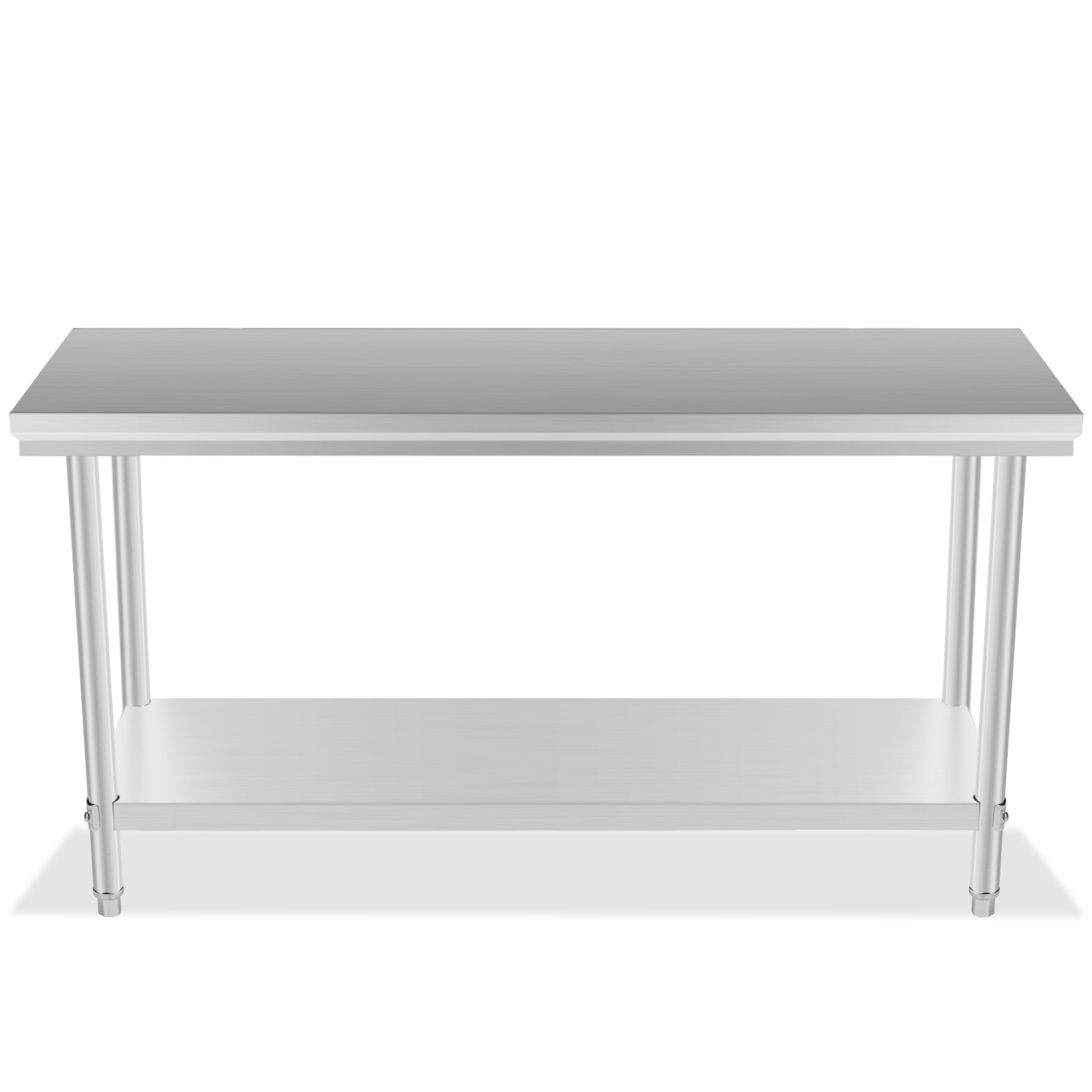 Restaurant stainless steel kitchen work prep table nsf chef shelf com - Top With Prep Tables For Kitchen