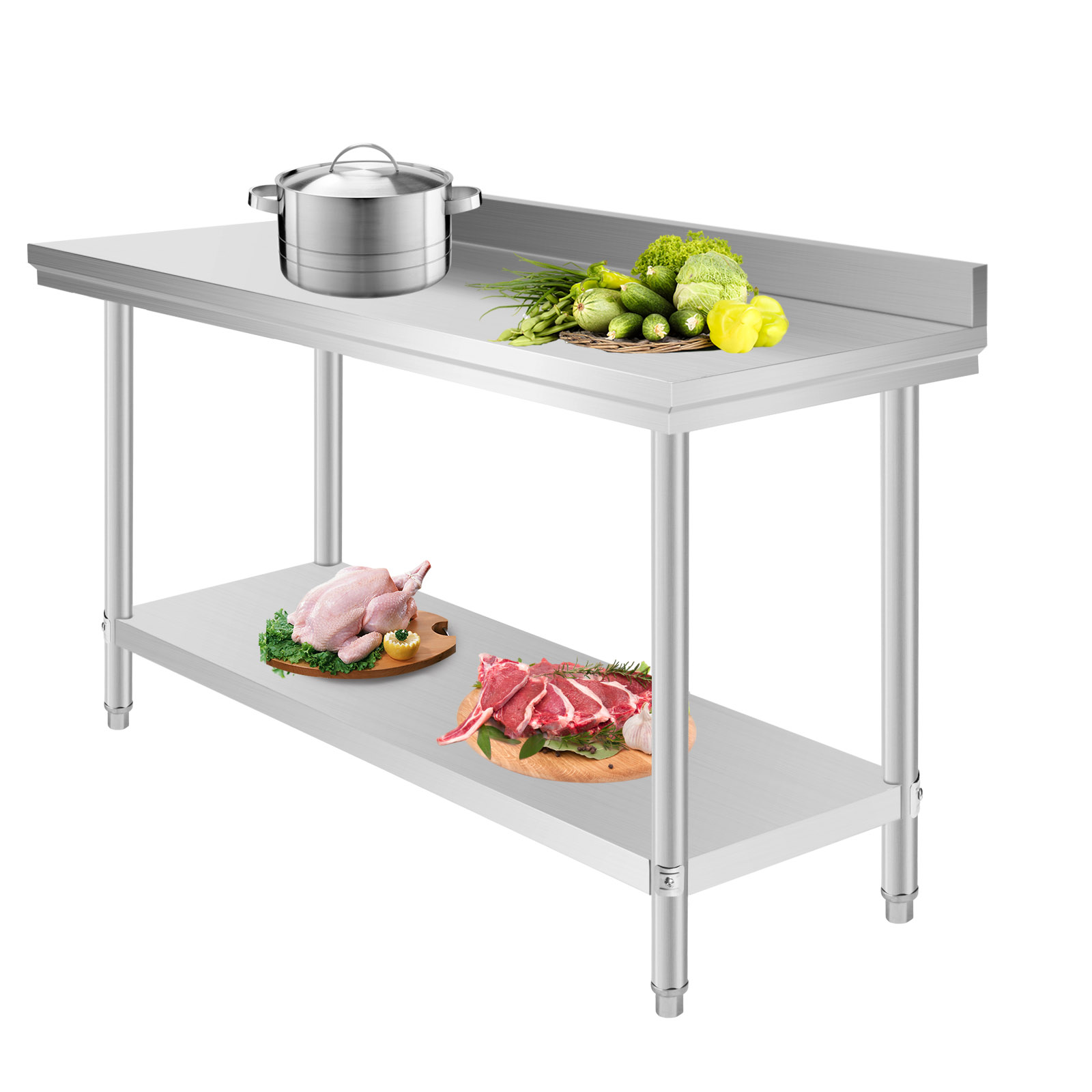 Industrial Kitchen Prep Table: Commercial Stainless Steel Food Work Prep Table 60 X 24