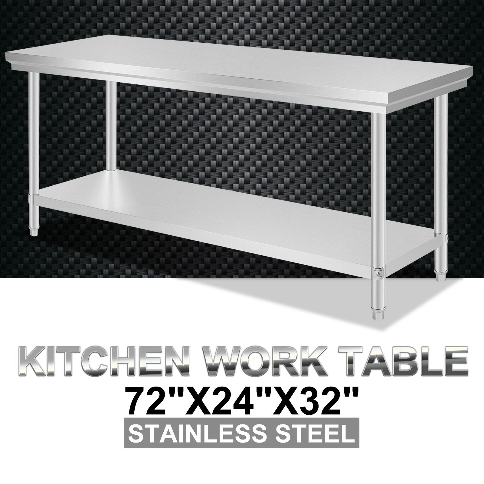 610x1829mm k chentisch edelstahl arbeitstisch rahmen essen cafeteria de lokalen ebay. Black Bedroom Furniture Sets. Home Design Ideas