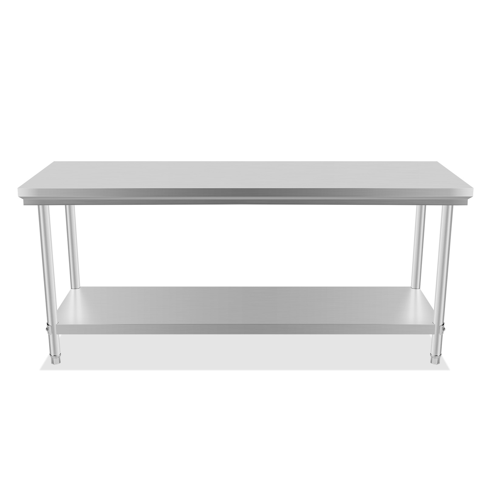 201 commercial stainless steel kitchen work bench top food grade prep table ebay - Industrial kitchen table stainless steel ...