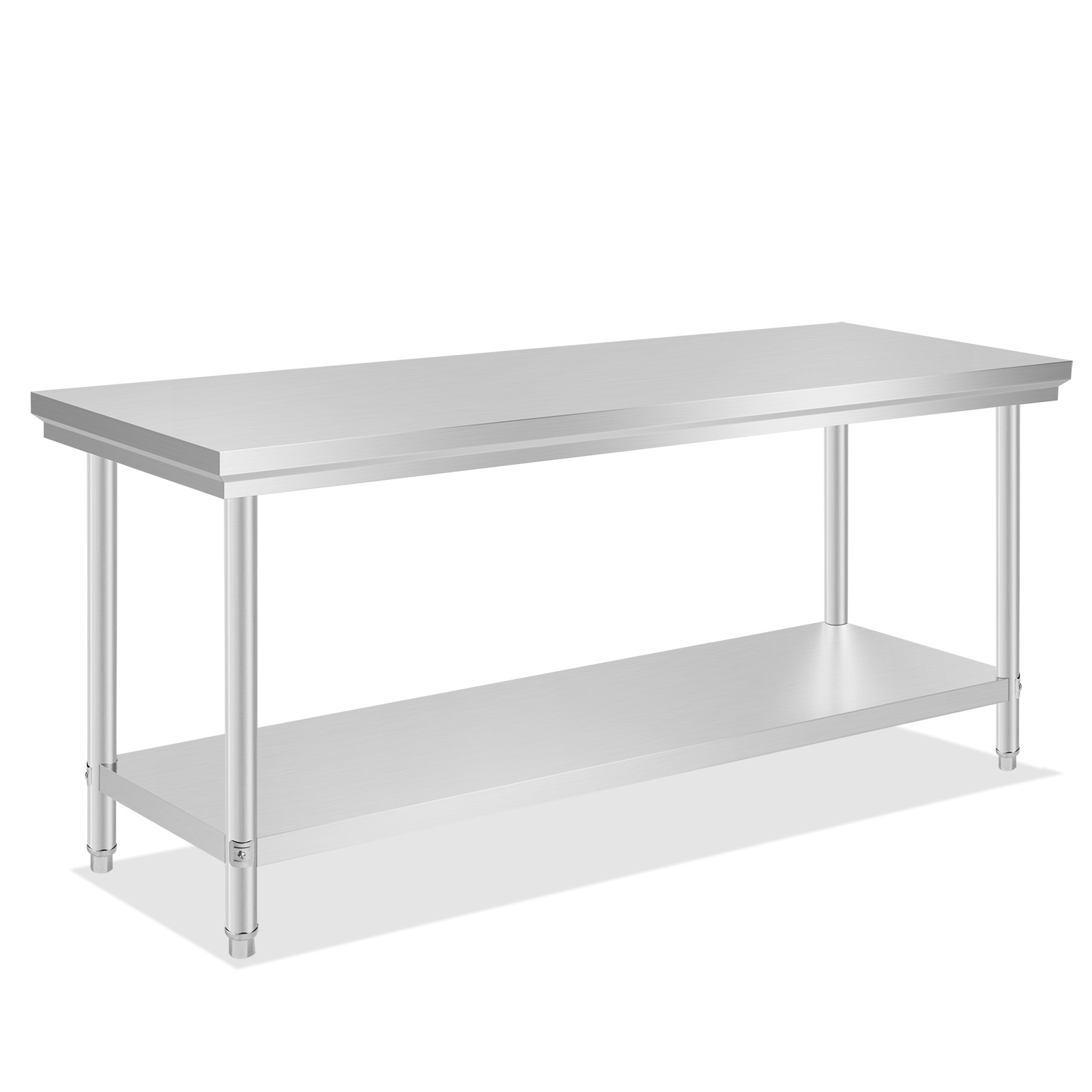 Commercial stainless steel work bench food kitchen catering table shelf ebay - Industrial kitchen table stainless steel ...
