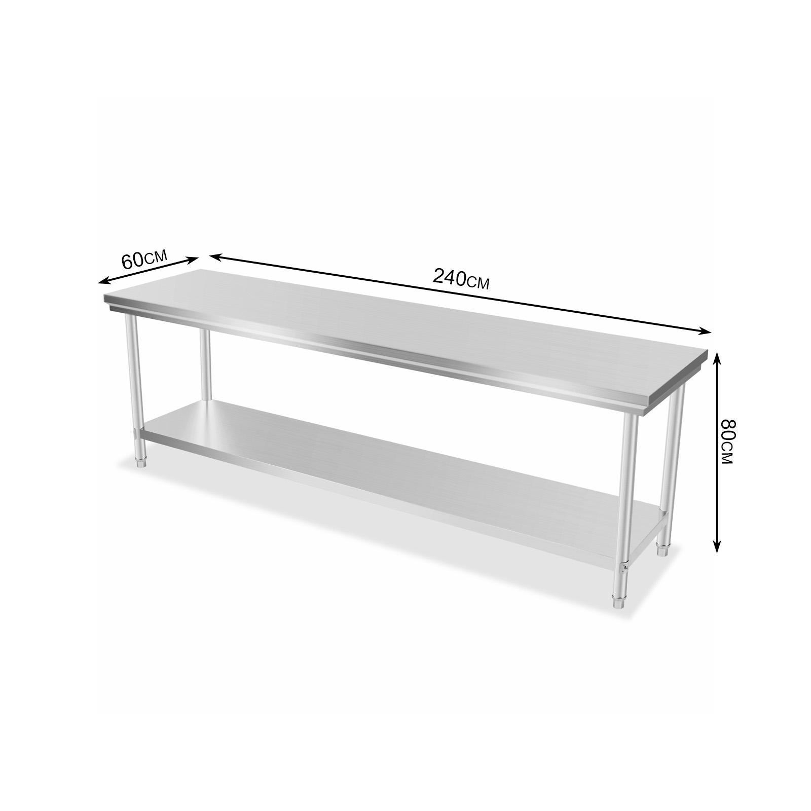 610x2438mm Kitchen Work Prep Table NSF Prep Sink Food