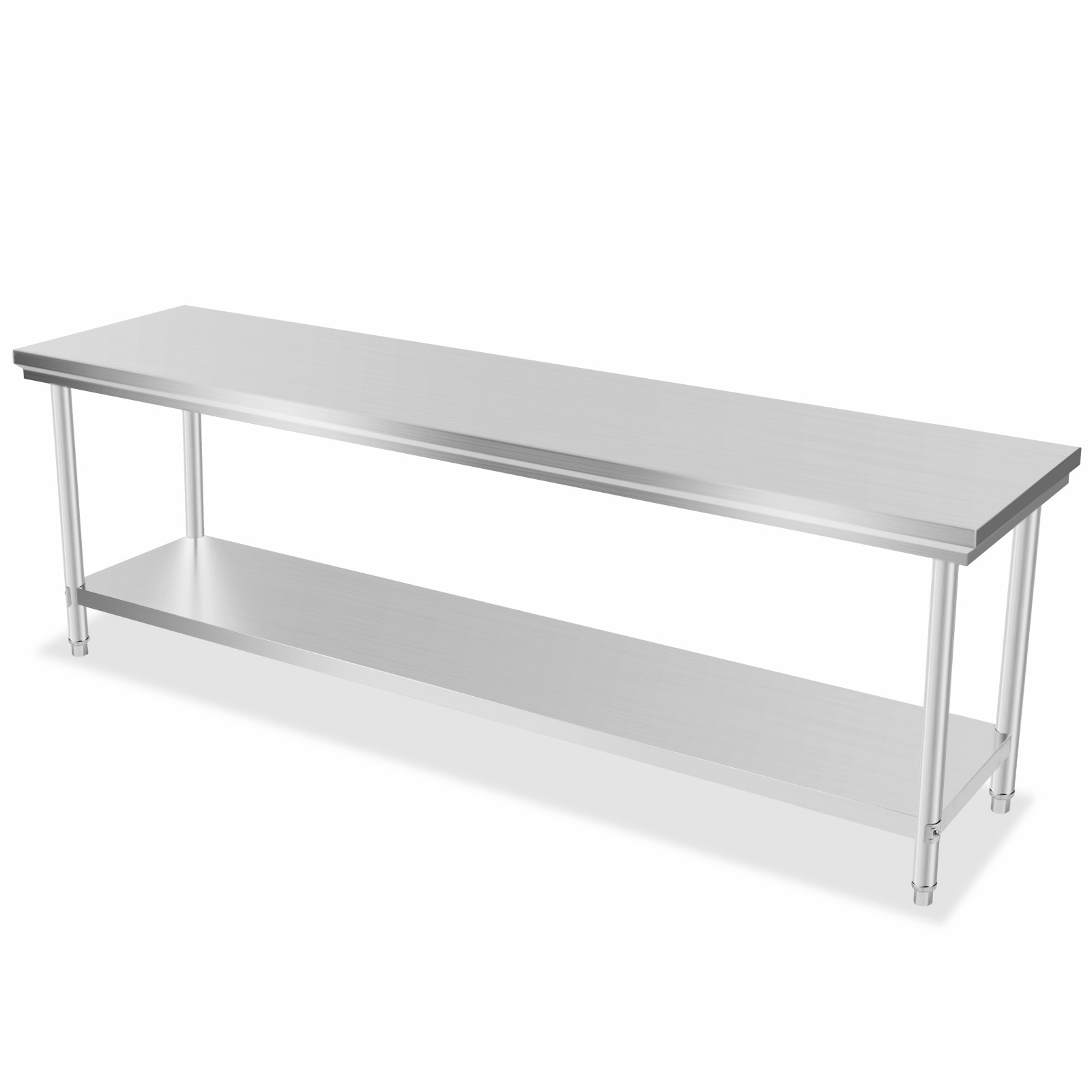 Commercial Stainless Steel Work Bench Food Prep Kitchen Table 60x240cm Nsf Ebay
