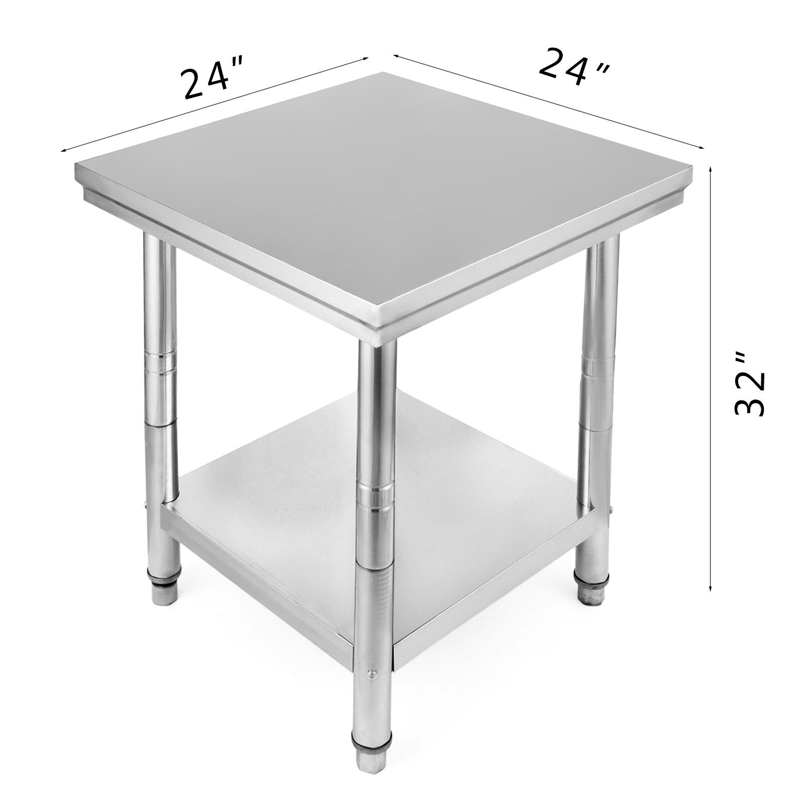 60X60CM KÜCHENTISCH Edelstahl Arbeitstisch Büro Tisch Tabelle Küchen ...