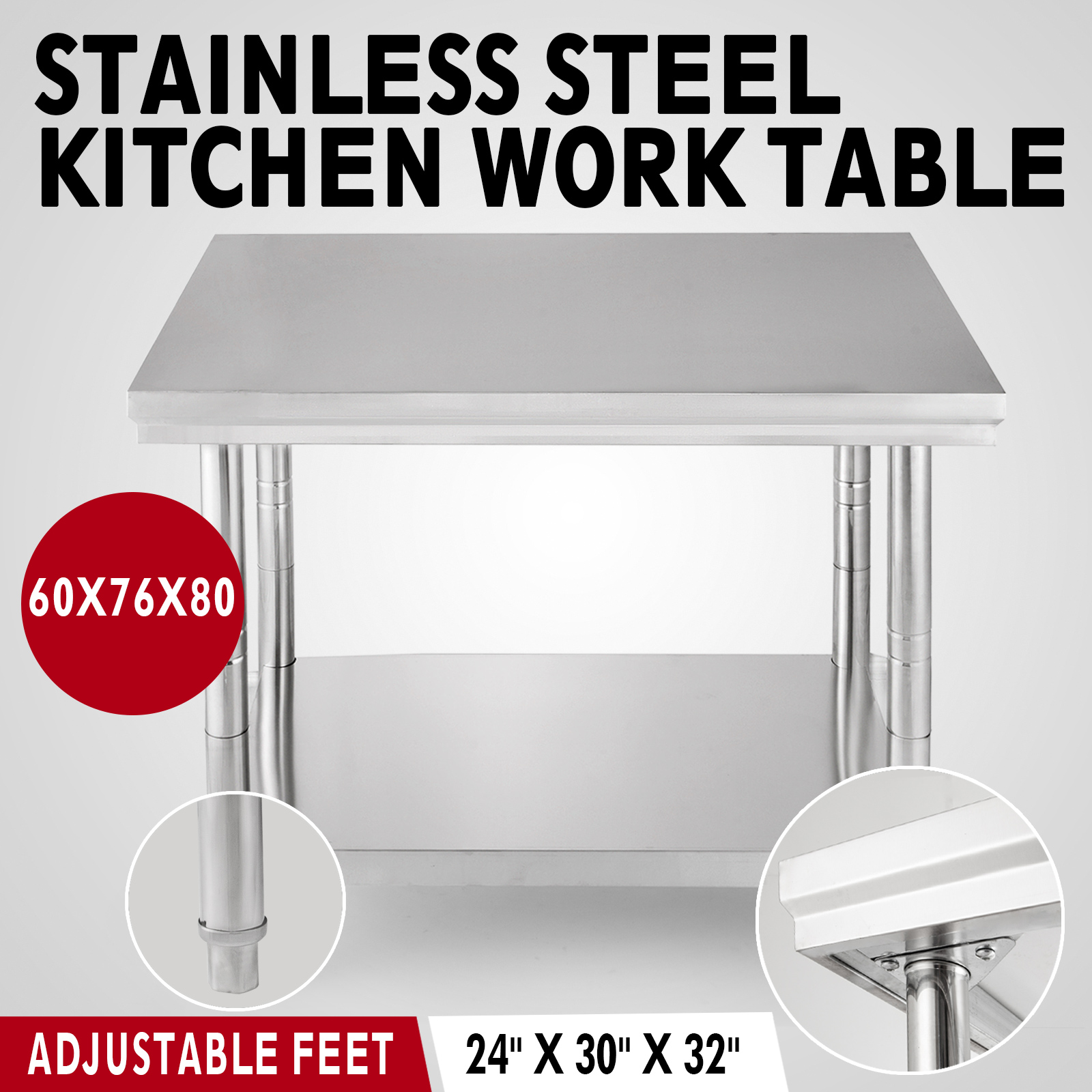 11 Style Kitchen Work Bench Table Warehouse Commercial 4 Caster Wheels Warehouse