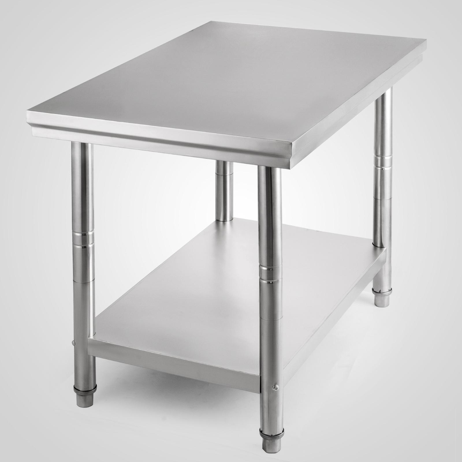 edelstahl arbeitstisch edelstahltisch mit oder ohne. Black Bedroom Furniture Sets. Home Design Ideas